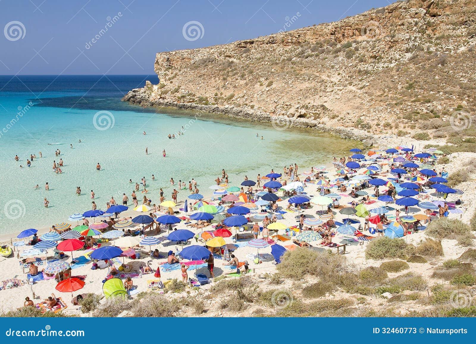 Strand av Conigli, Lampedusa