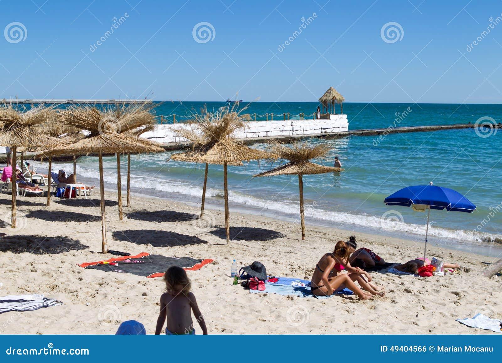 Download Strand in Balchik redaktionelles foto. Bild von europa - 49404566