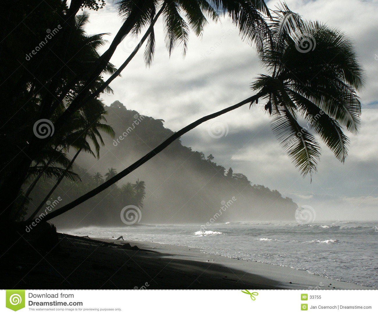 Strand bij dageraad