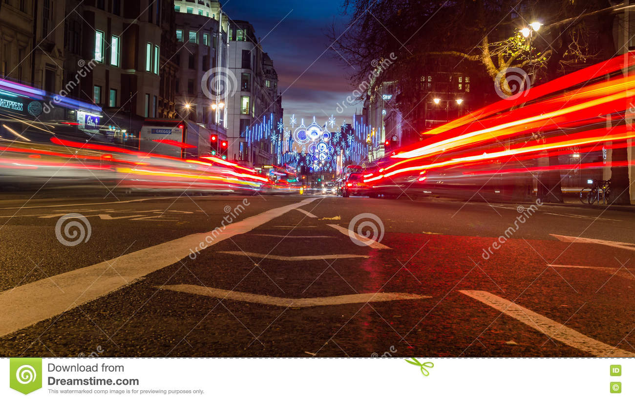 Strand Christmas Street Decoration With Motion Light By Night