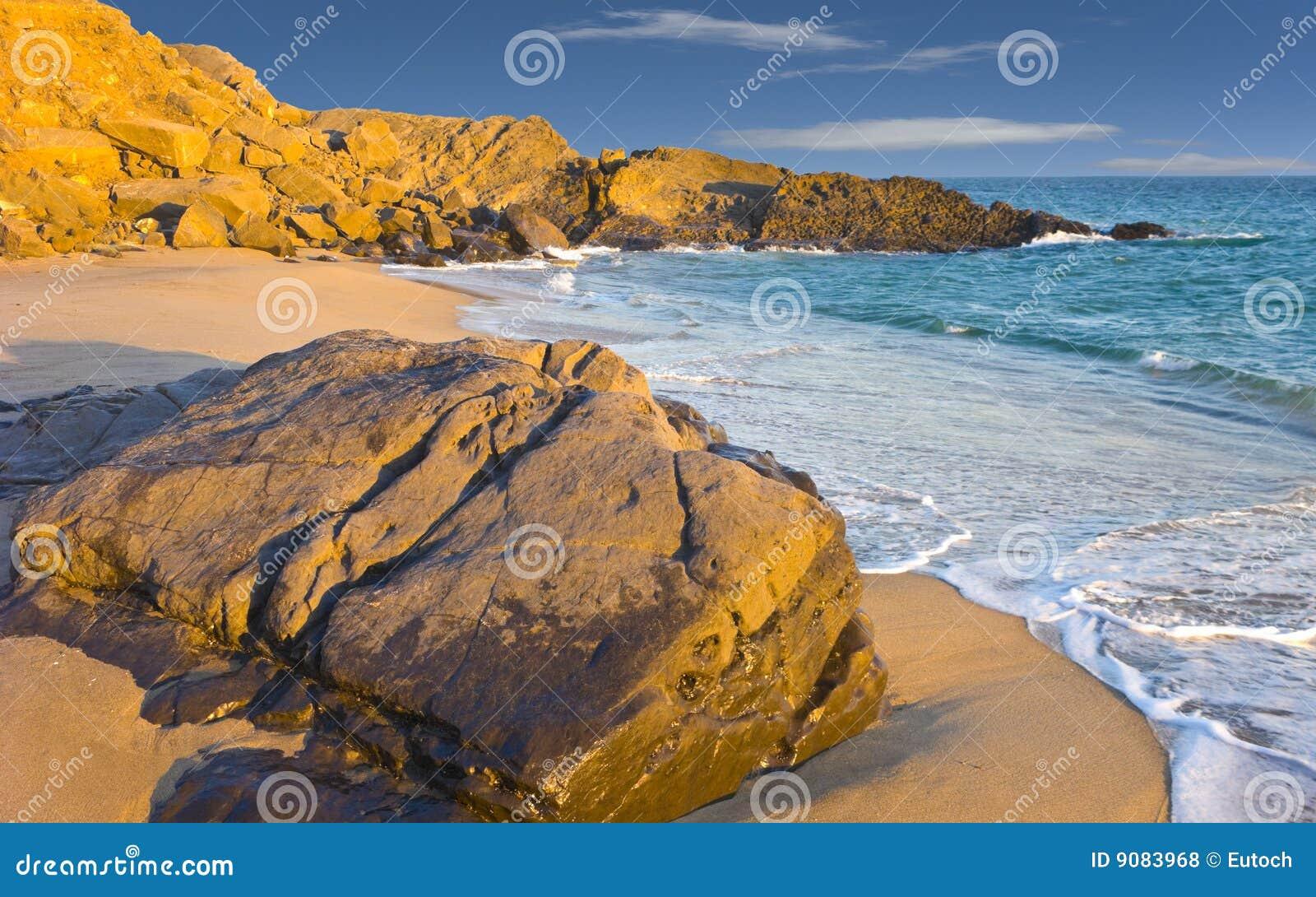 Strand an der Dämmerung, Oxnard, CA