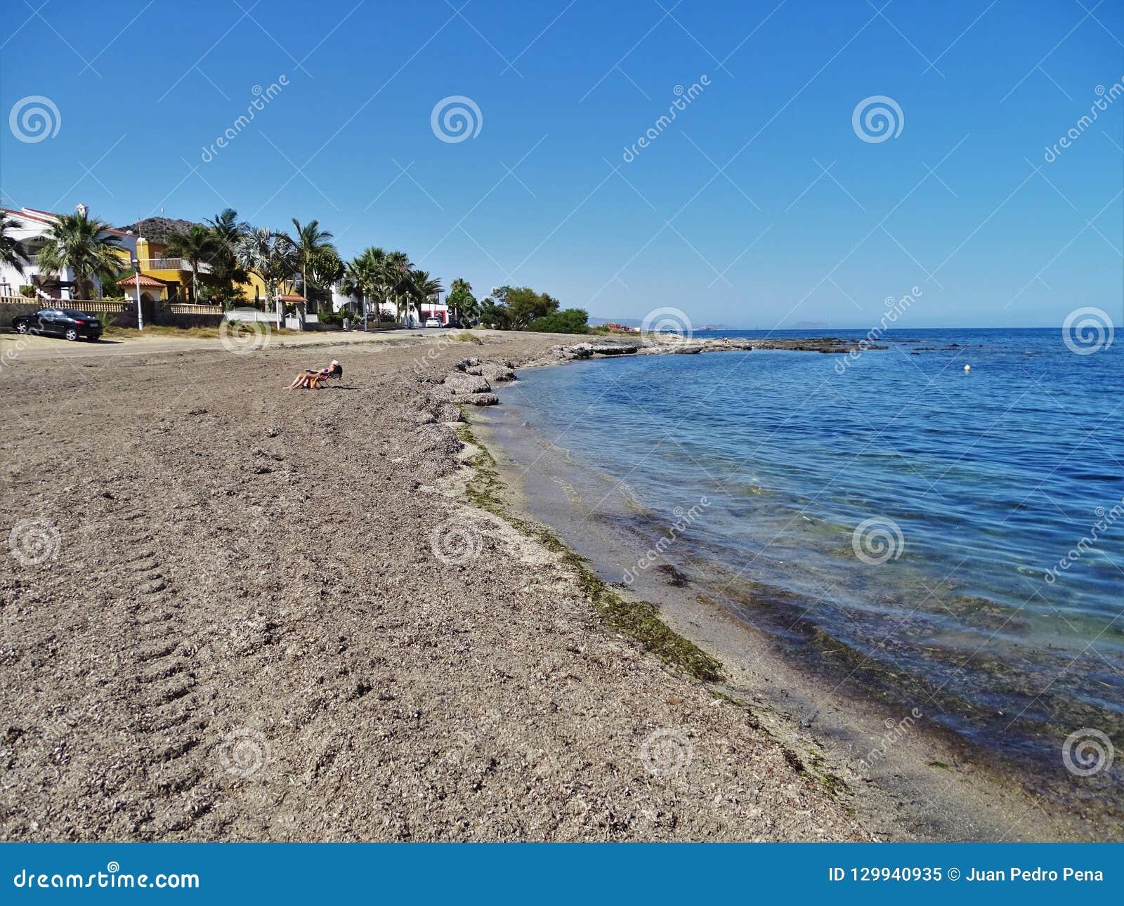 Strand des Calon von Cuevas de Almanzora Almeria Andalusia Spain