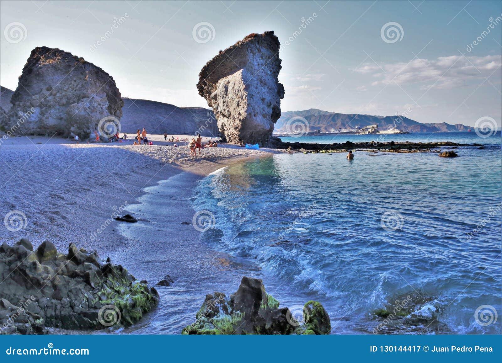 Strand des Muertos von Carboneras Almeria Andalusia Spain