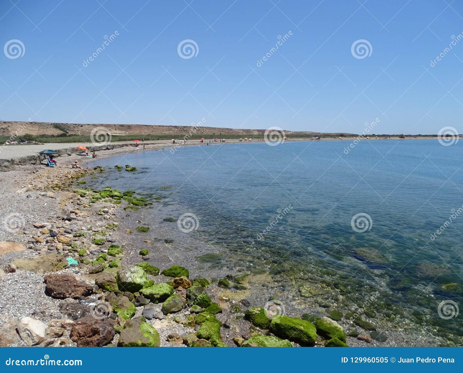 Strand des Punta Etinas Sabinar von EL Ejido Almeria Andalusia Spain