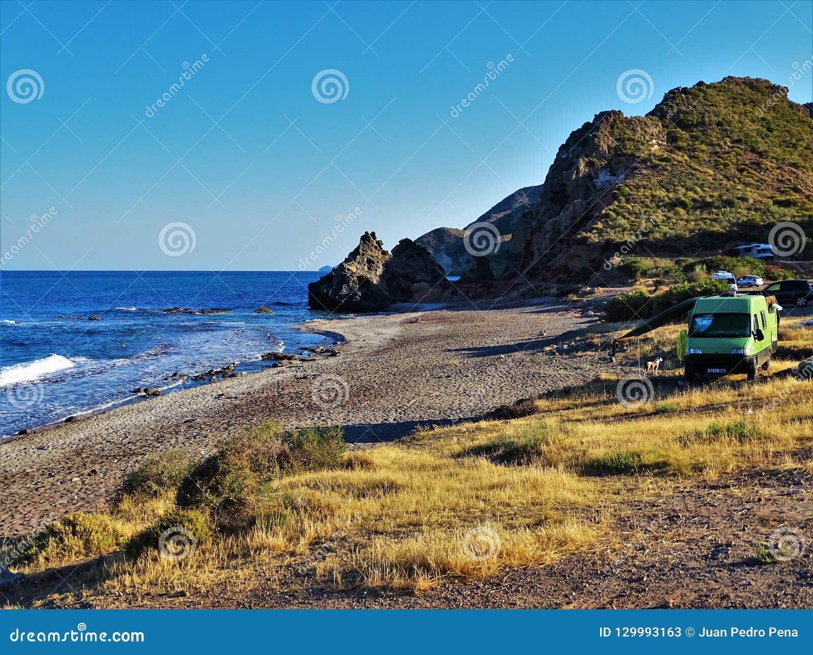 Strand des Sombrerico von Mojacar Almeria Andalusia Spain