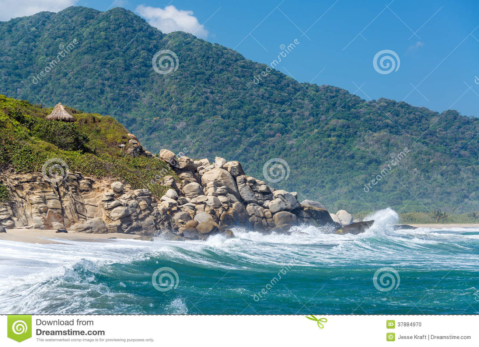 Strand en Groene Heuvels