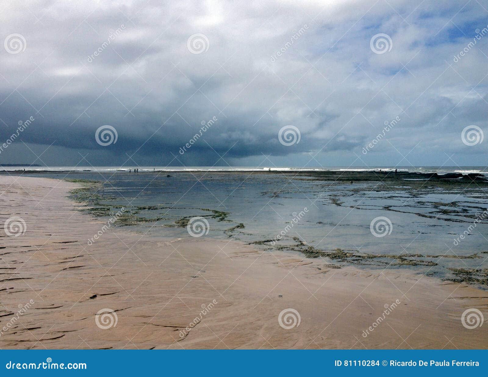 Strand en overzees op de kust van Bahia
