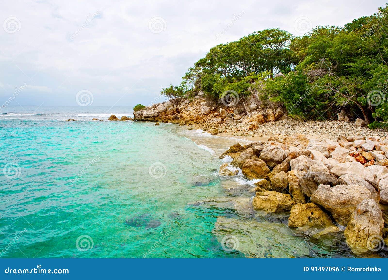 Strand en tropische toevlucht, Labadee-eiland, Haïti