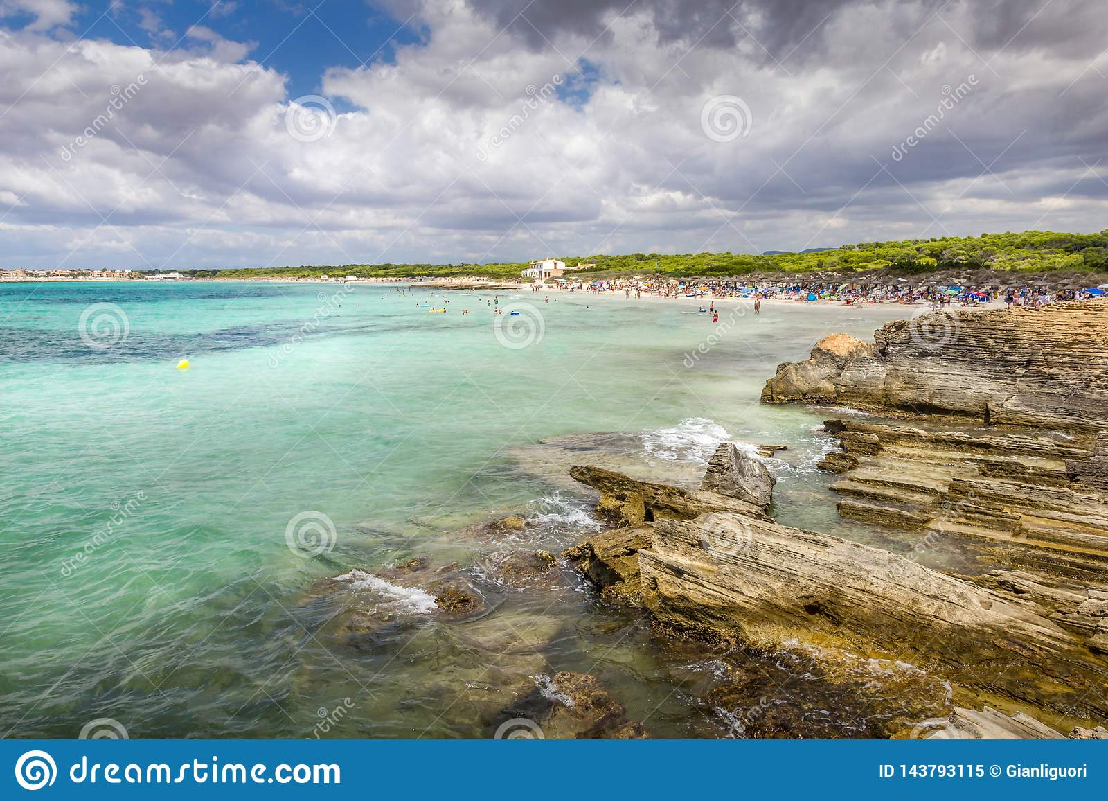 Paradisiac Beach, Es Trenc Majorca Spain Tourist