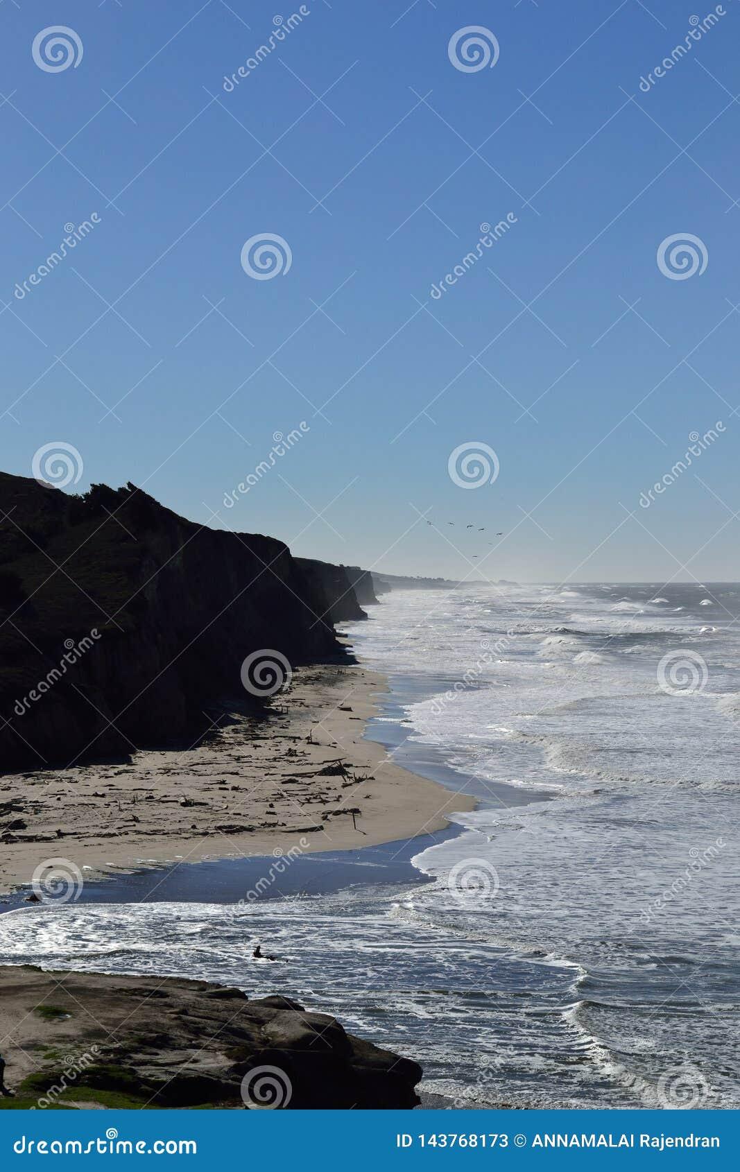 Strand för kust för hav US1 sandig