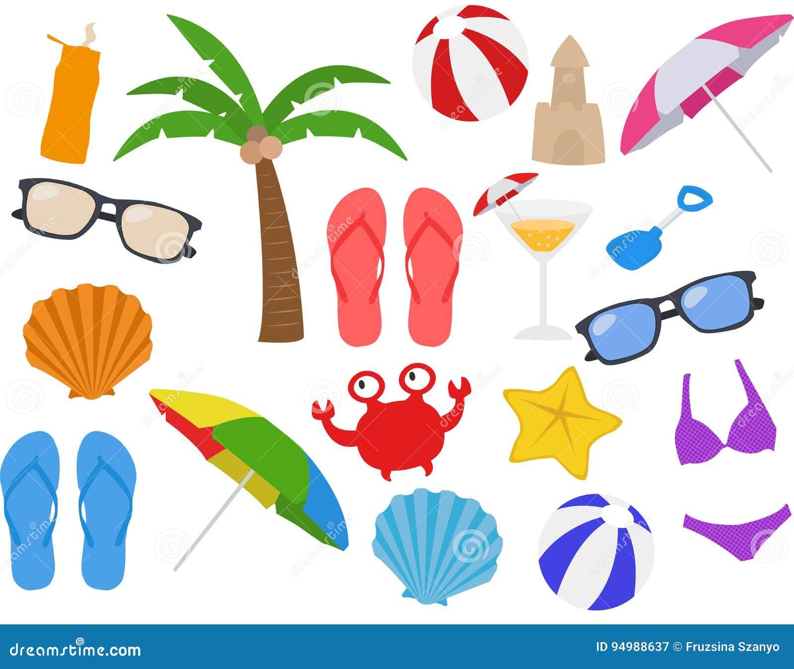 Strand feiertag ferien sommer karikatur clipart vektor for Clipart estate