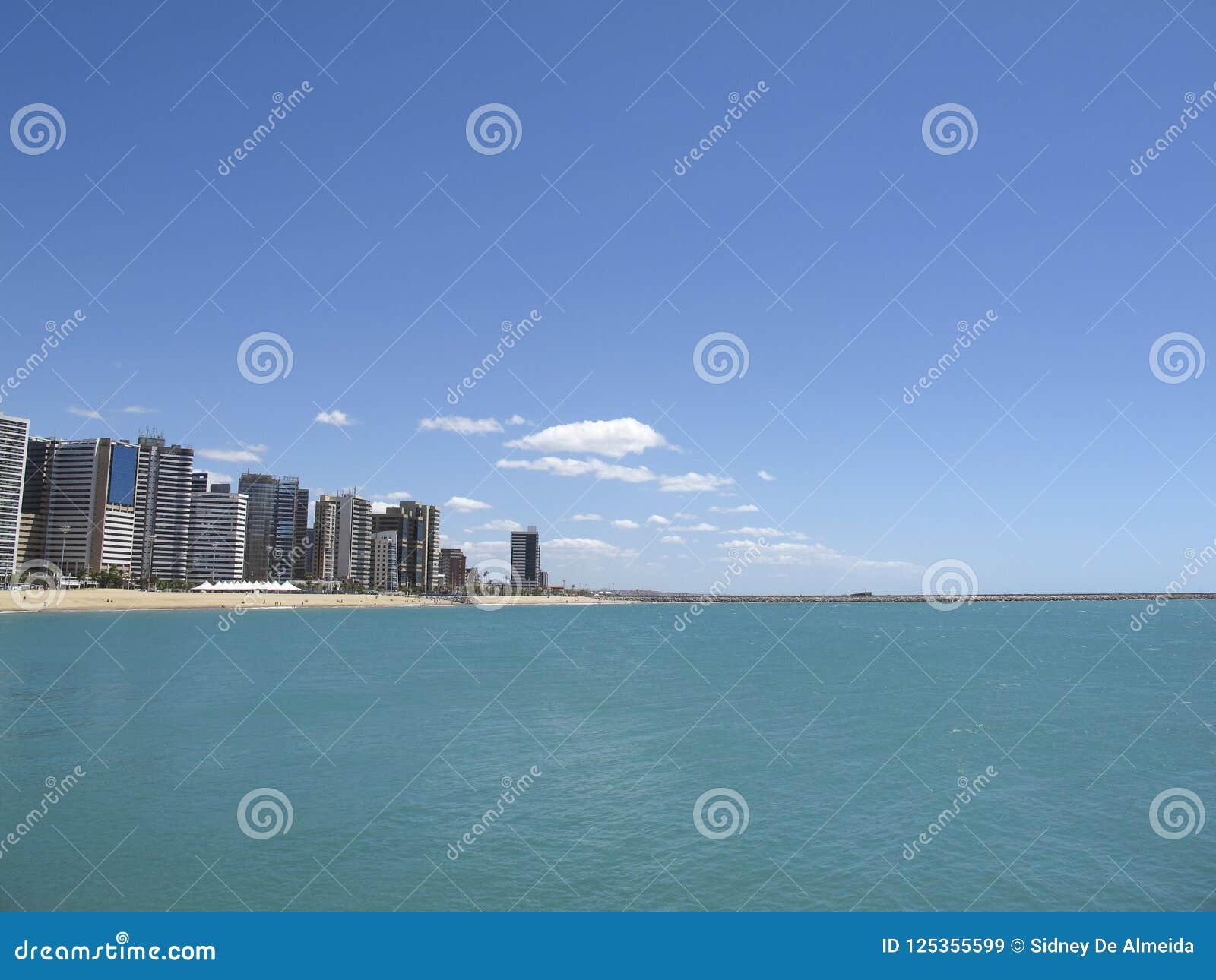 Strand in Fortaleza, Ceara, Brazilië