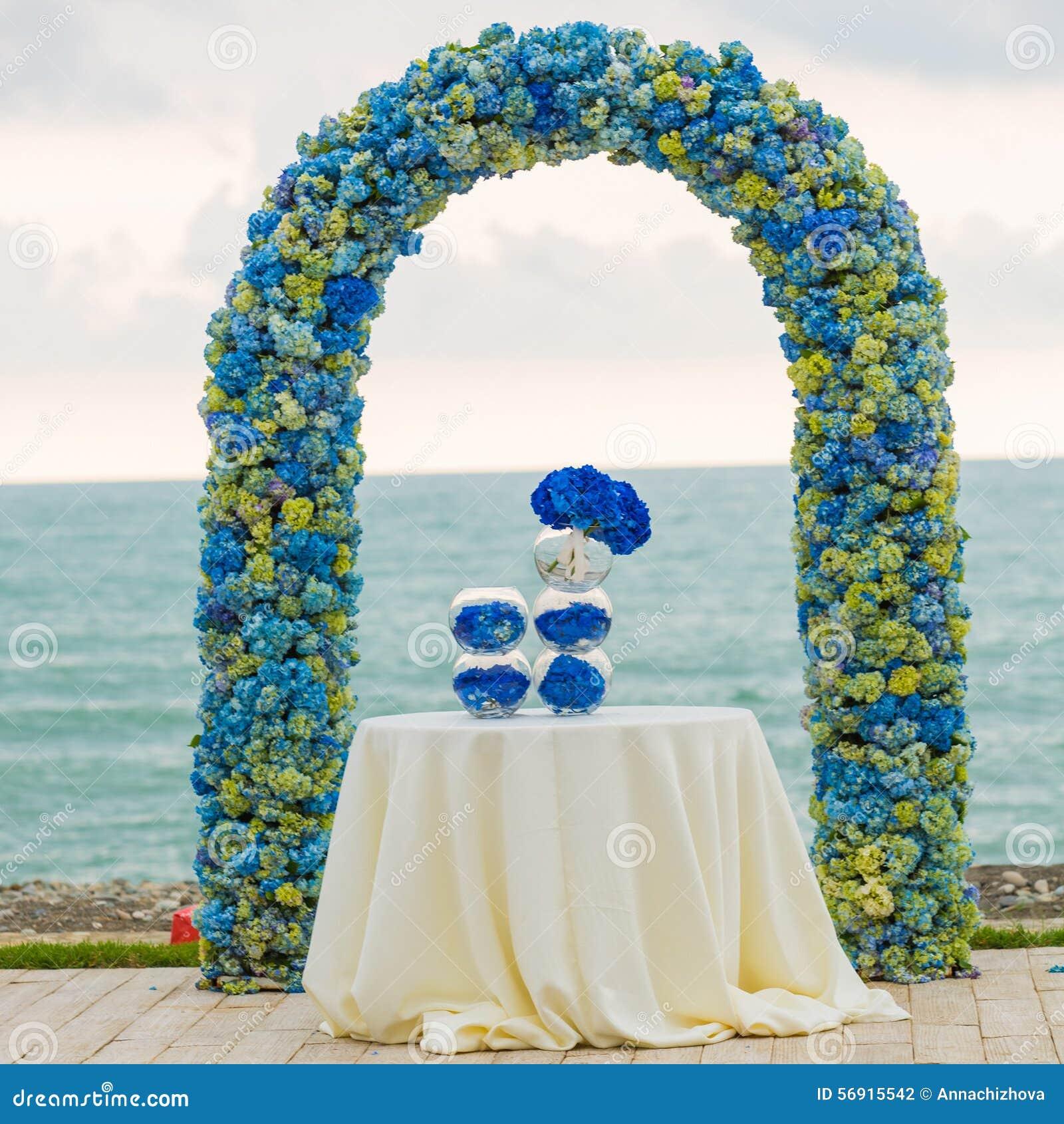 Strand Hochzeits Bogen Stockfoto Bild Von Strand
