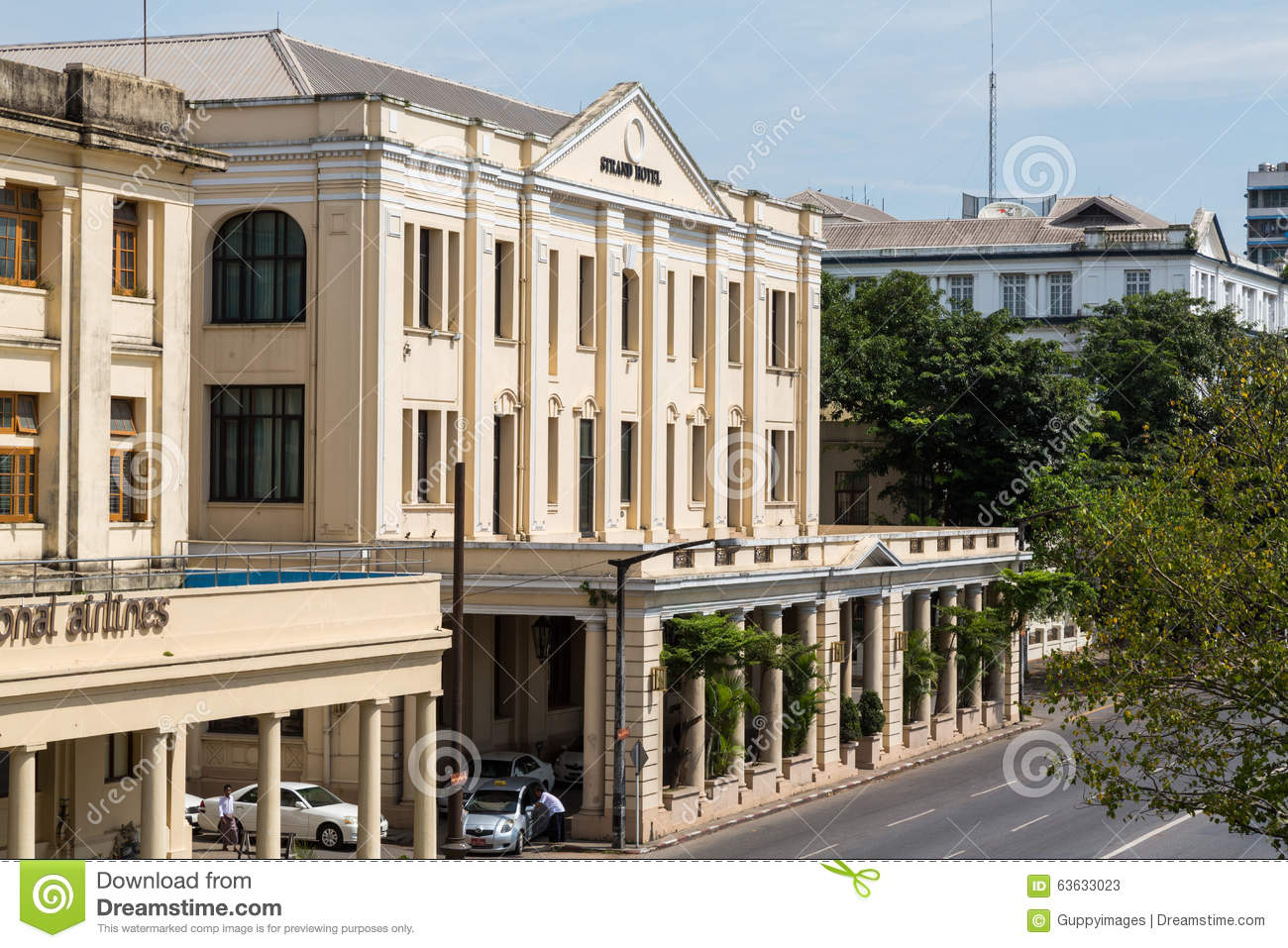 The strand hotel yangon editorial stock photo image for Design strandhotels