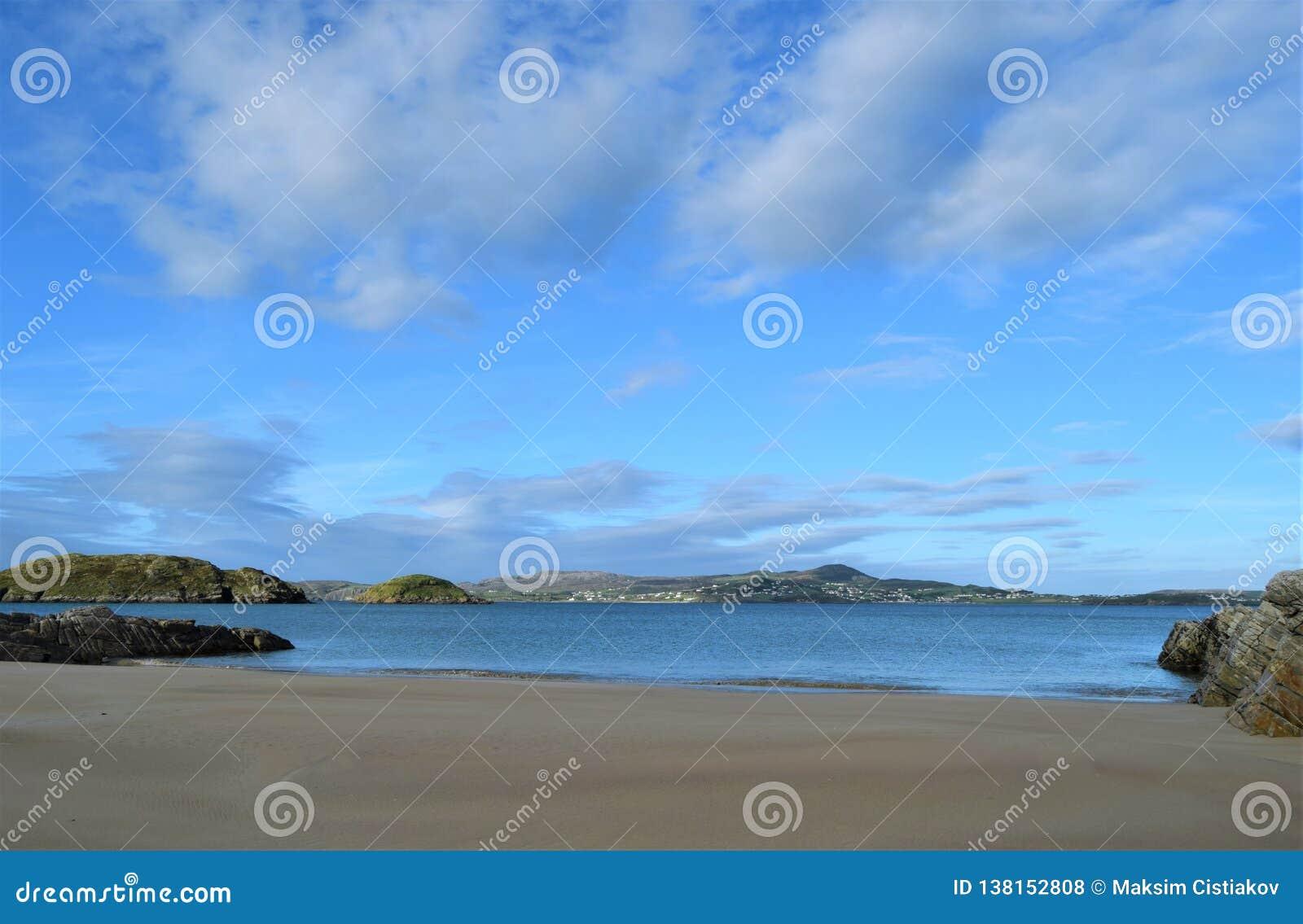 Strand i en Forest Park, Co Donegal Irland
