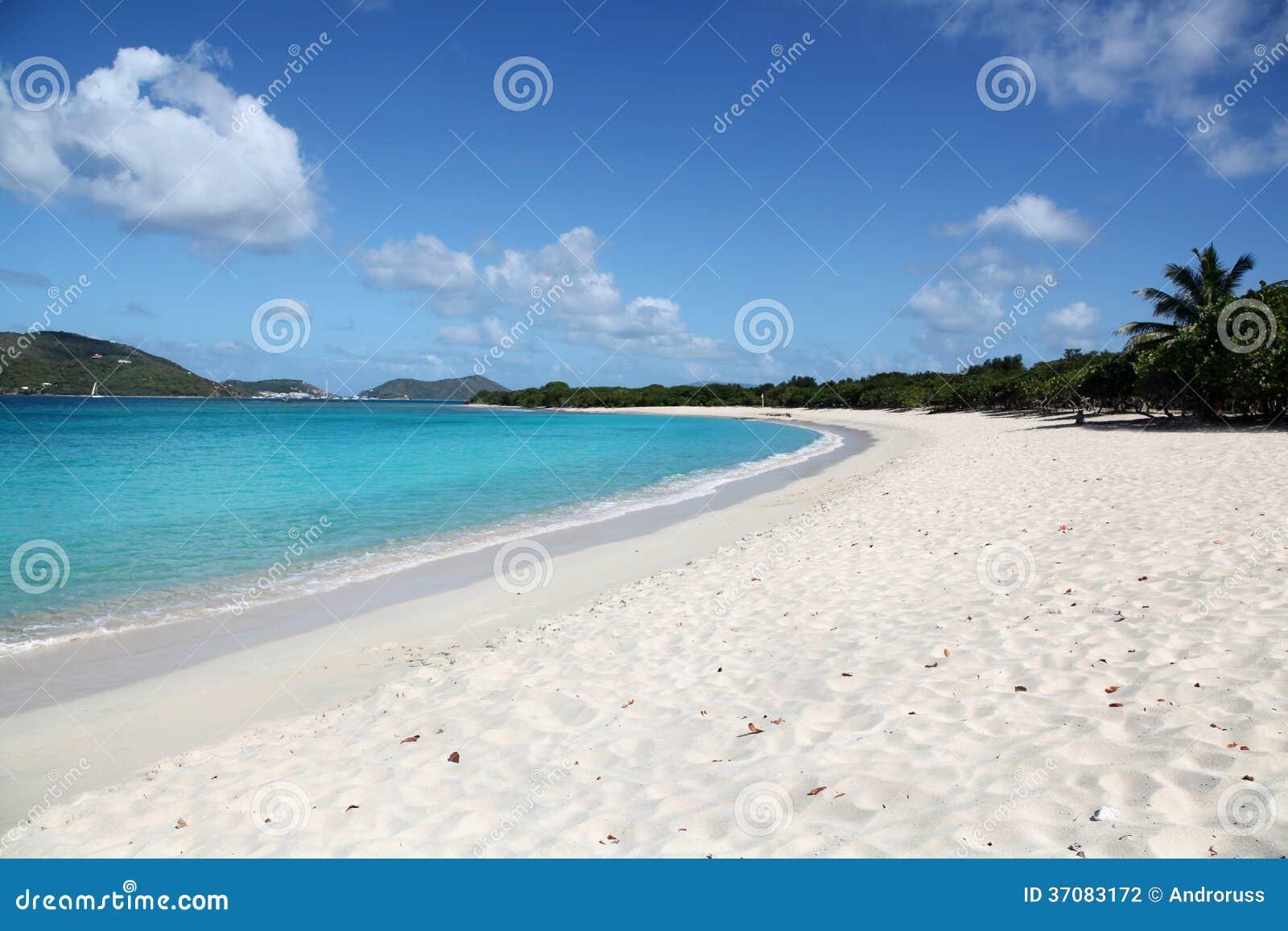 Strand i Tortola, BVI