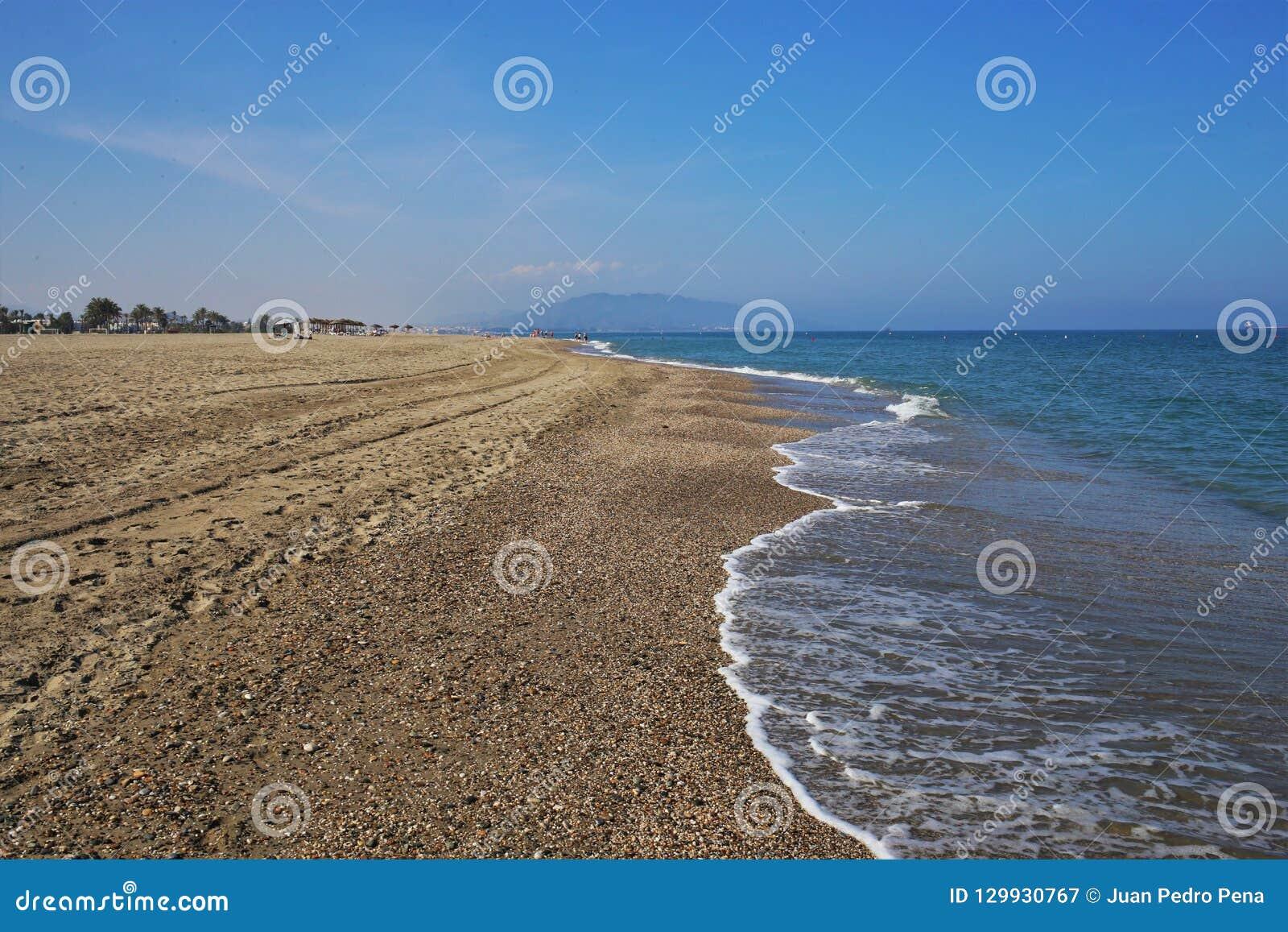 Strand-Jachthäfen Bolaga in Carboneras Almeria Andalusia Spain