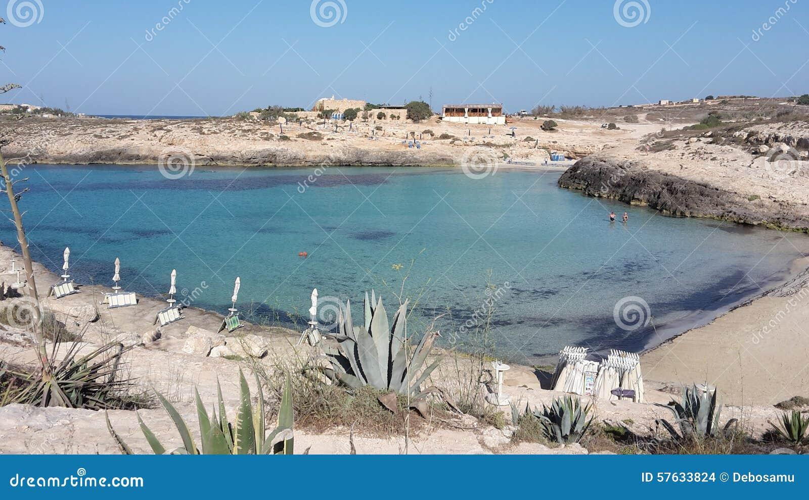 Strand Lampedusa Italien