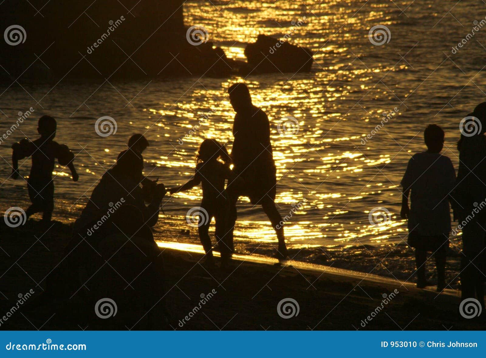 Strand-Leute