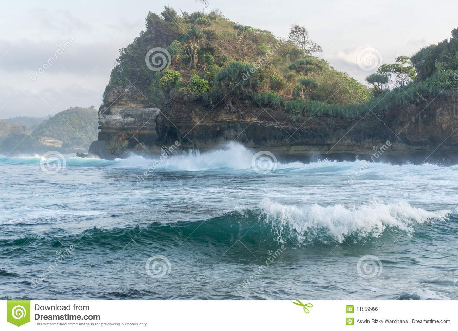 Strand Malang Indonesien Batu Bengkung