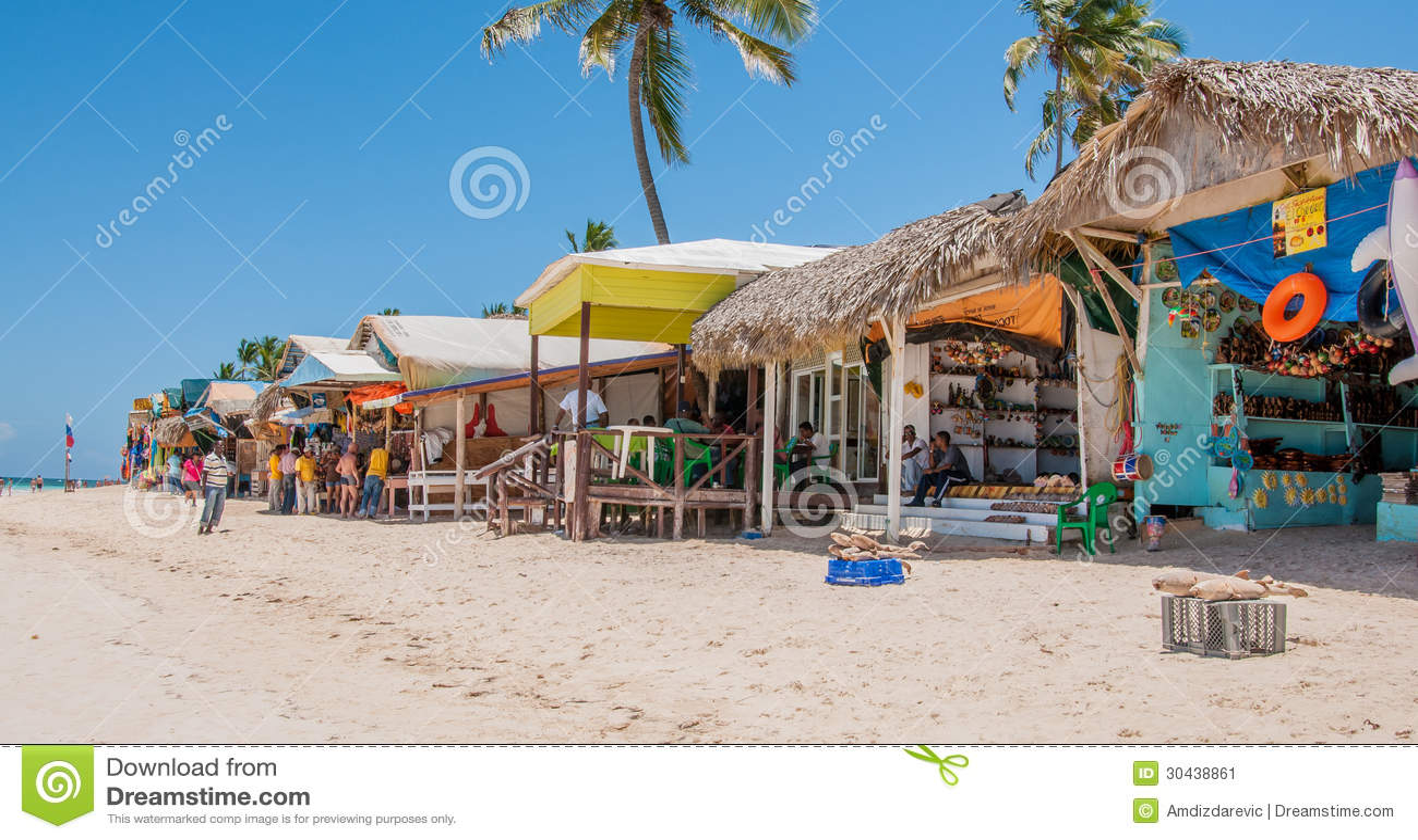 strand markt in punta cana redaktionelles foto bild von. Black Bedroom Furniture Sets. Home Design Ideas