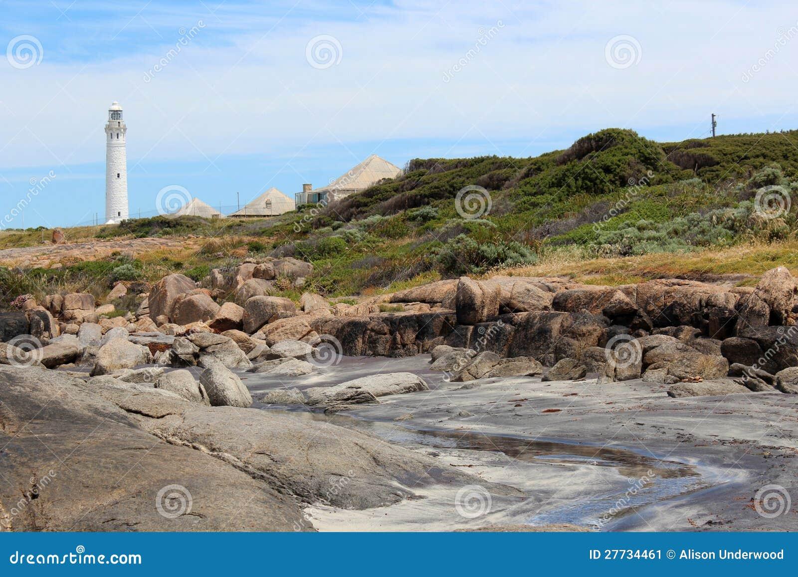 Strand mit Leuchtturm Augusta Westaustralien