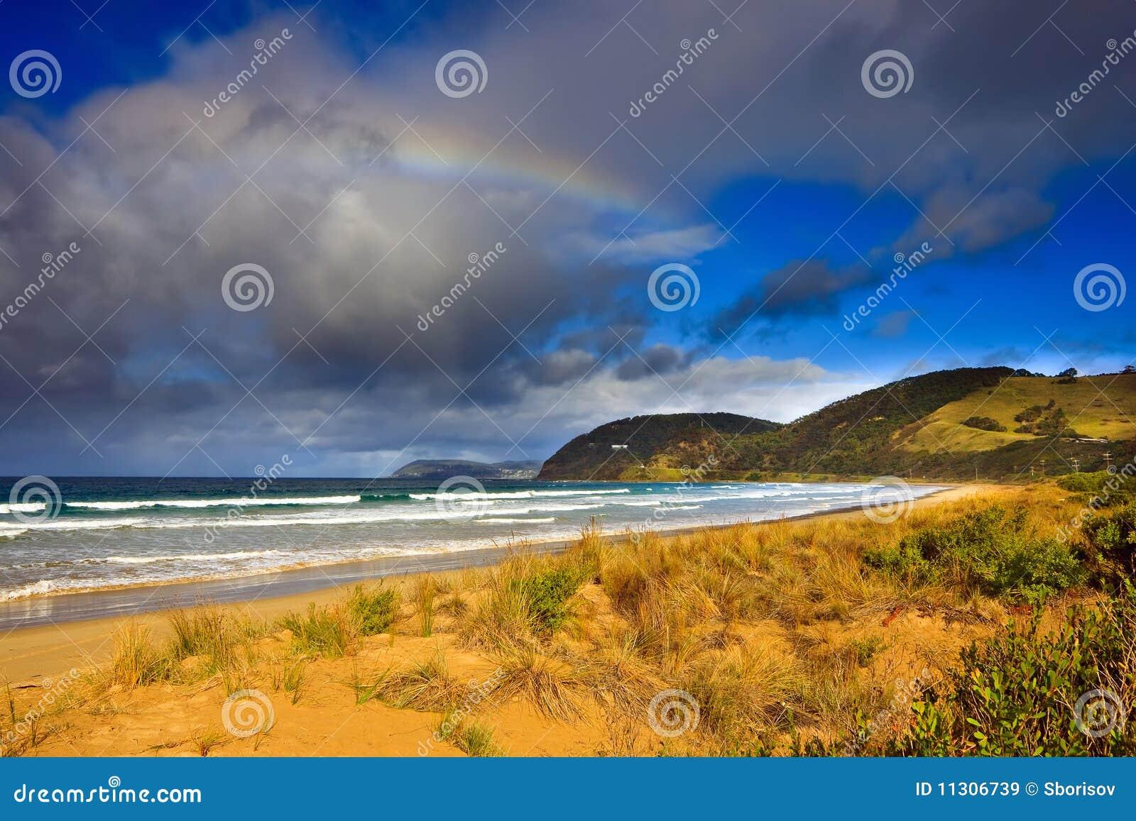 Strand nahe großer Ozean-Straße