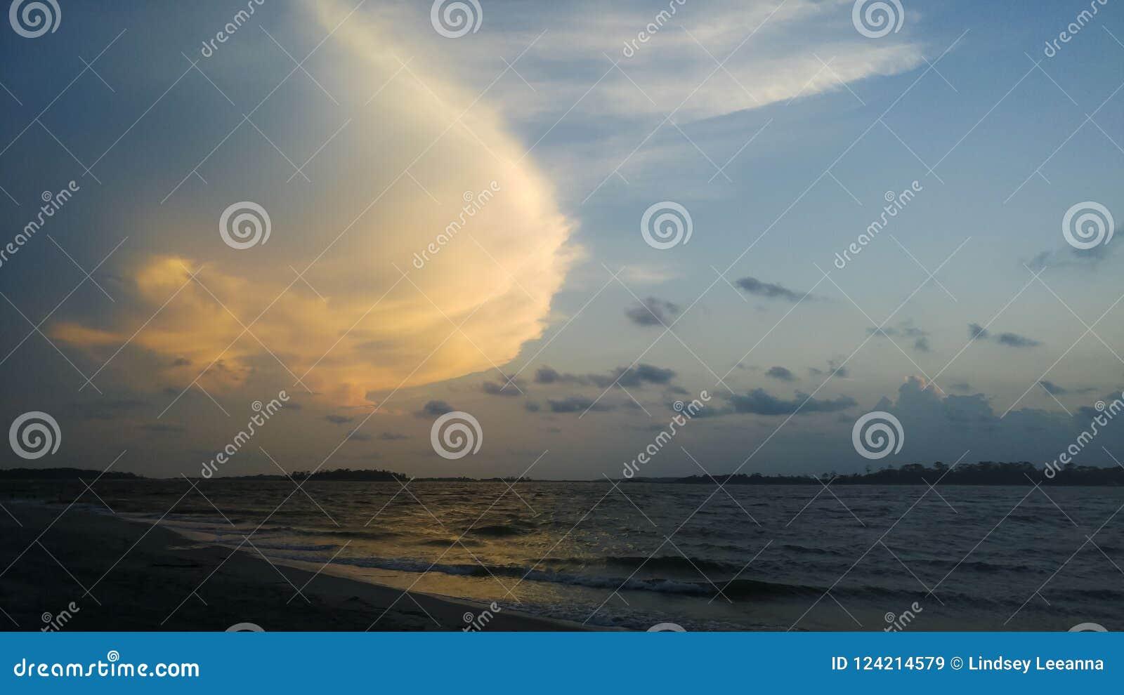 Strand, Ozean-Landschaftsansicht