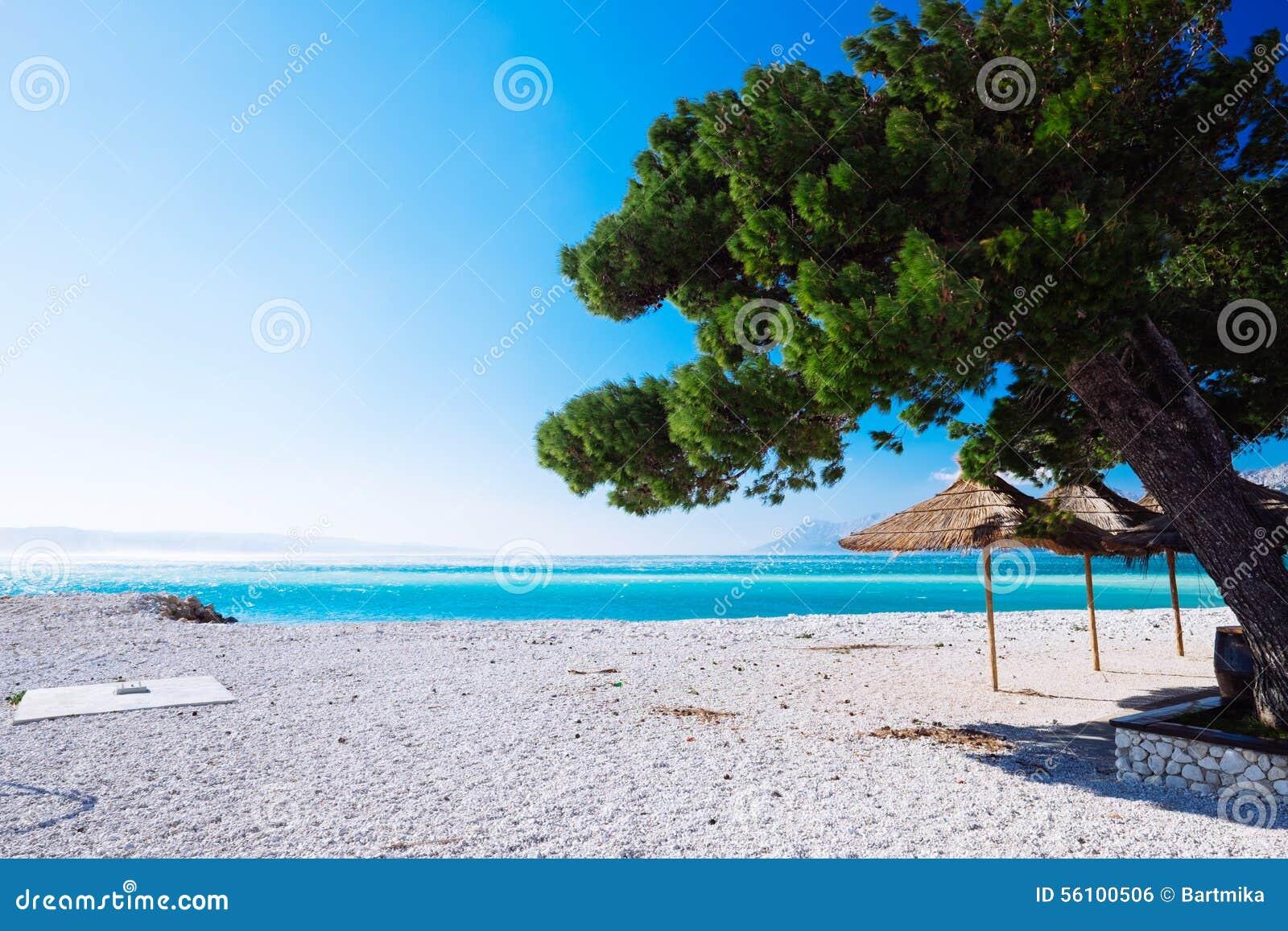 Strand på Makarska, Kroatien