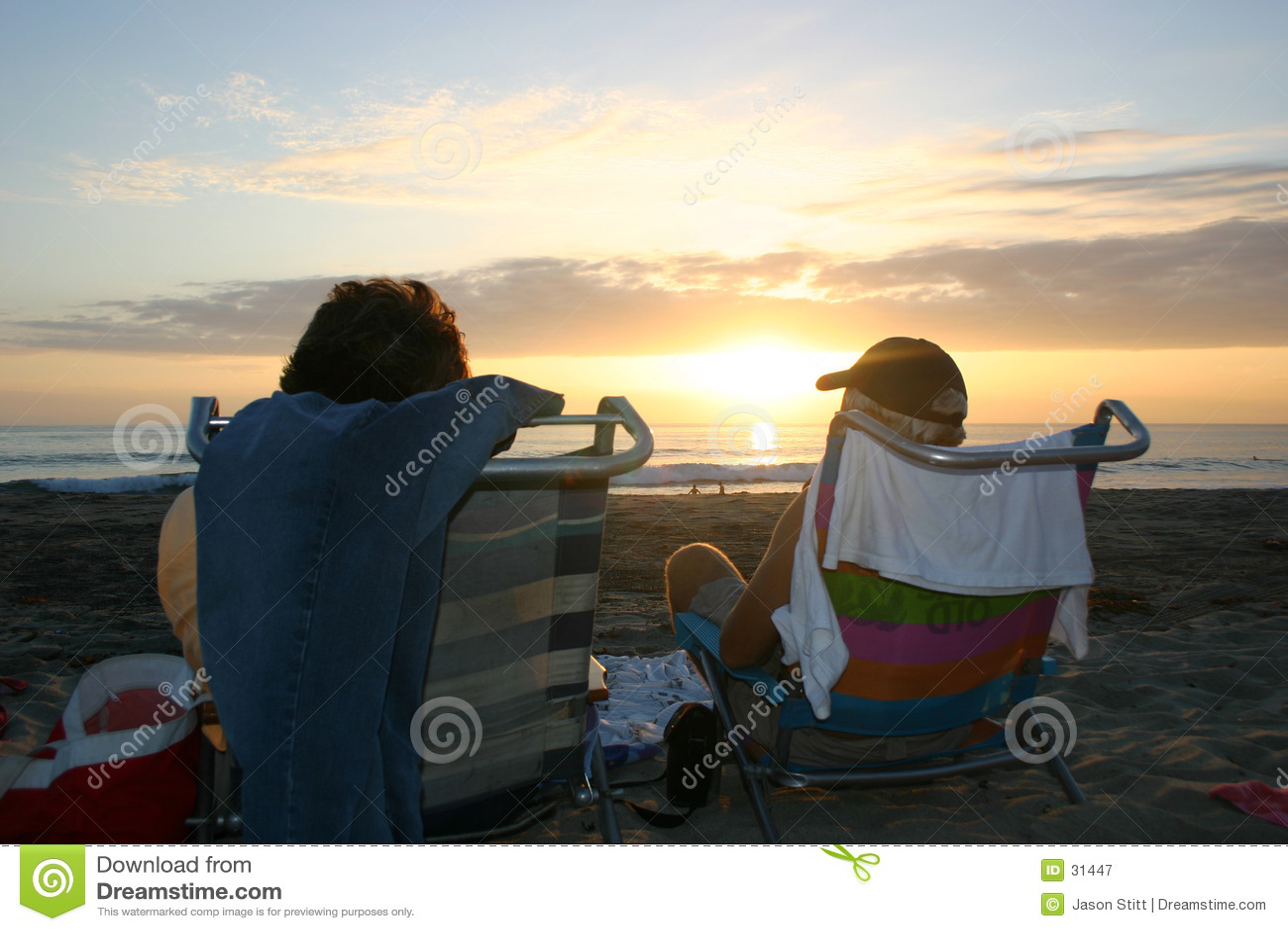 Strand-Sonnenuntergang