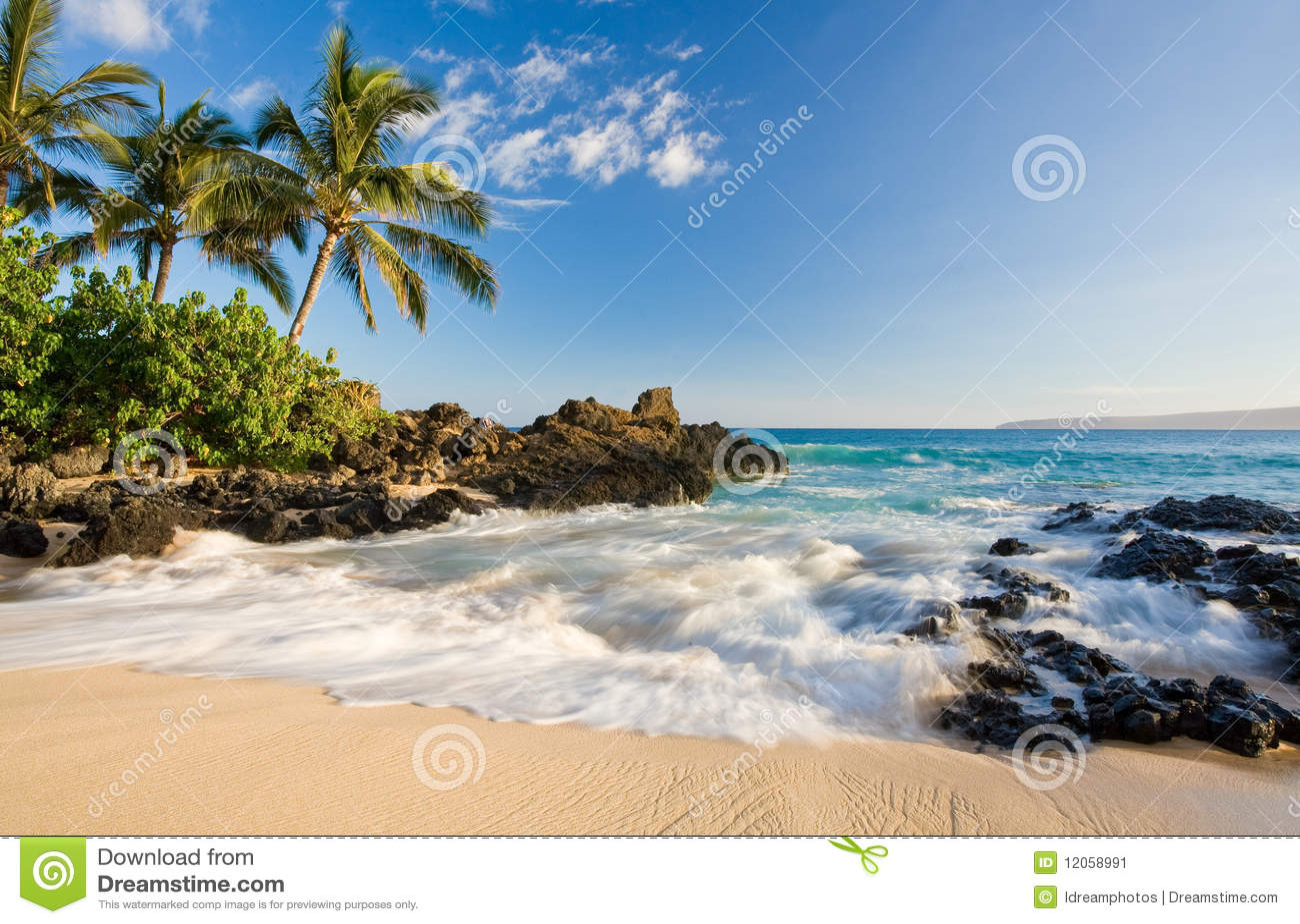 Strand tropisch Maui Hawaï