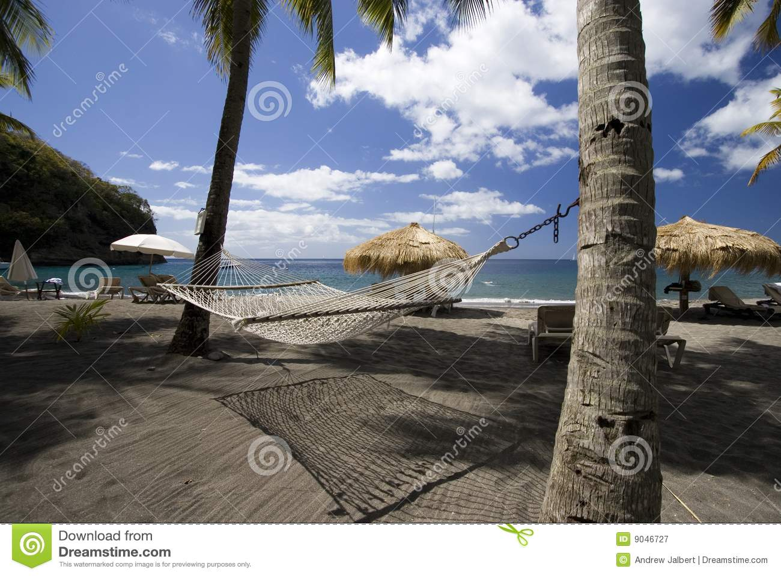 Strand und Hängematte, St Lucia