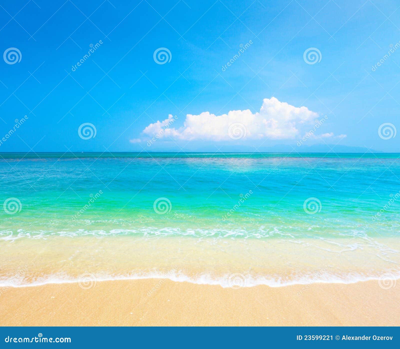 Strand und tropisches Meer. KOH Samui, Thailand
