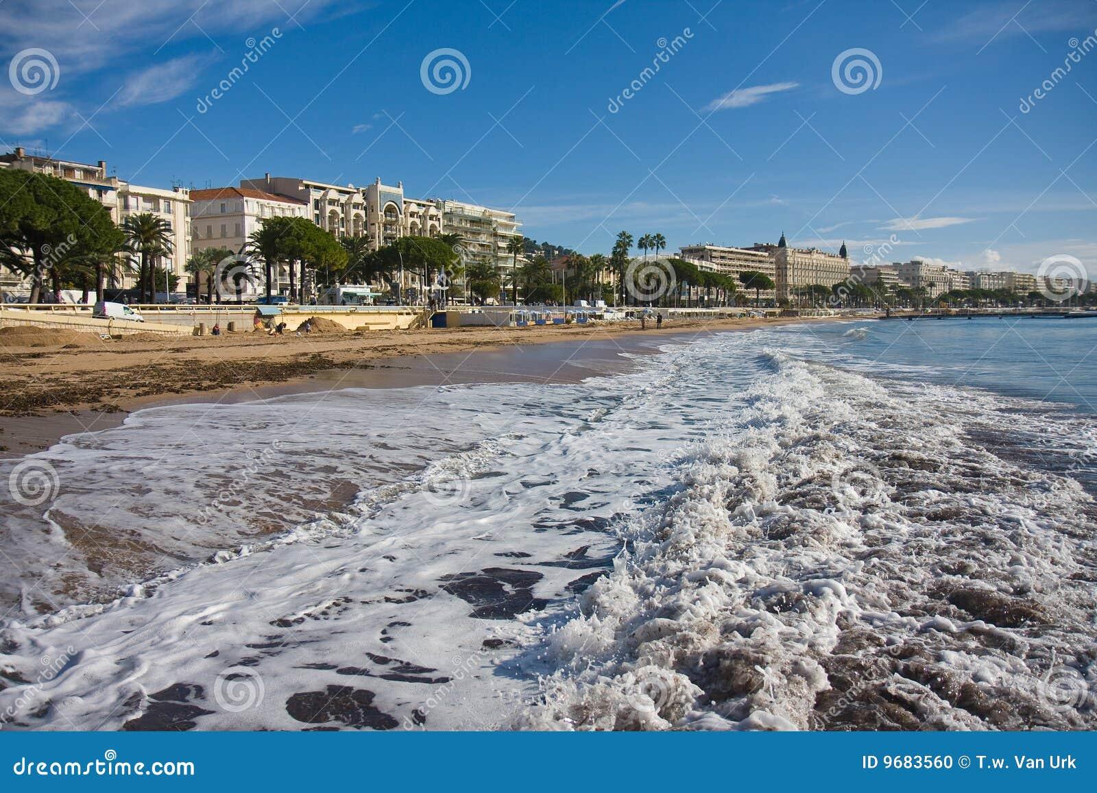 Strand von Cannes