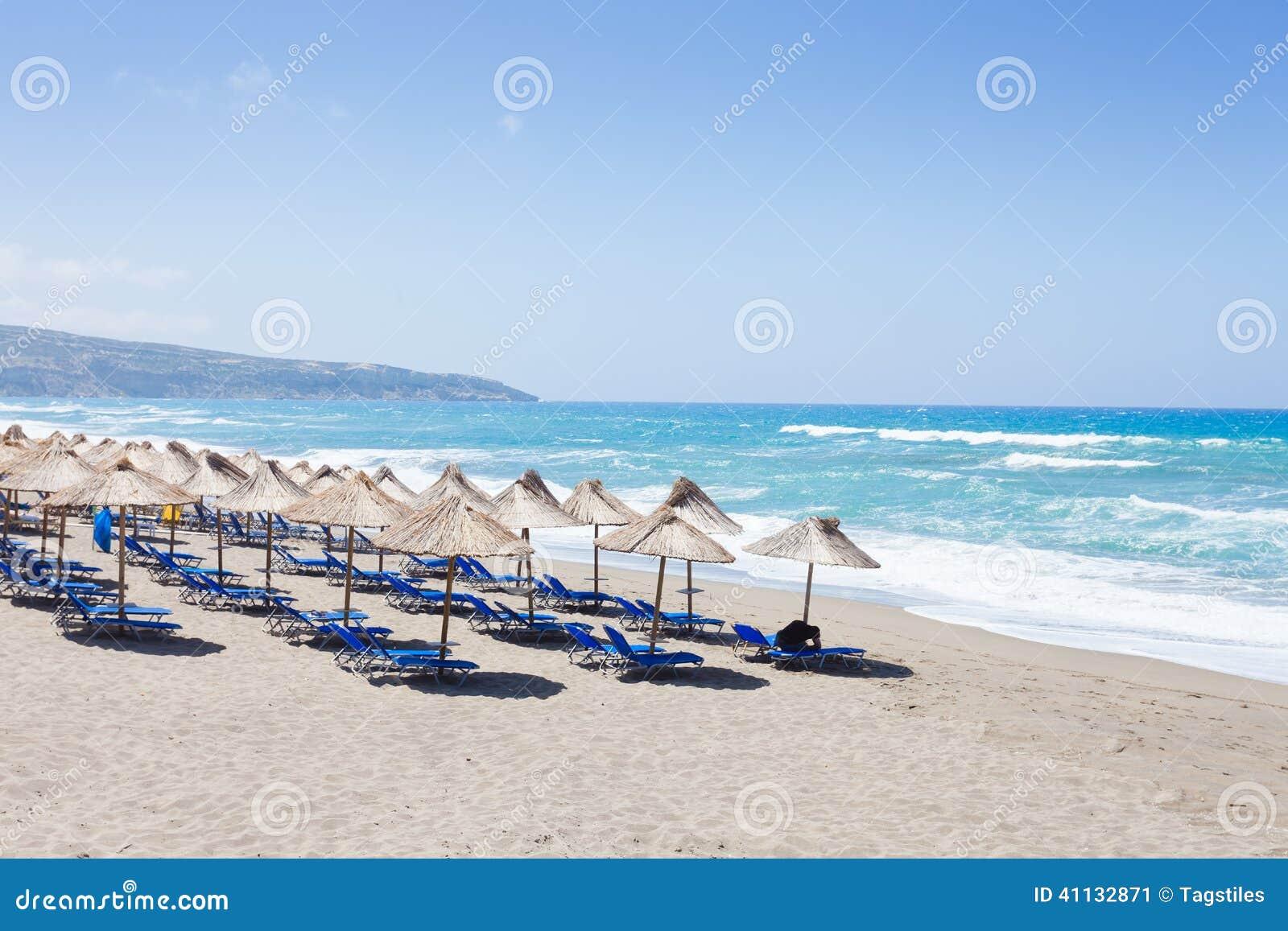 Download Strand von Kalamaki stockbild. Bild von kreta, fotographie - 41132871