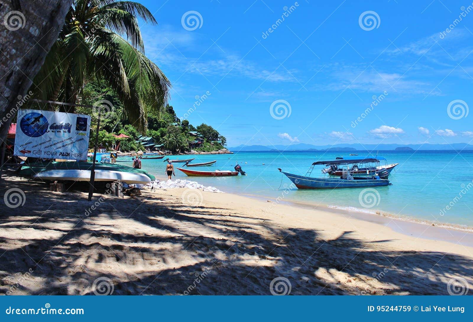 Strand von perhentian Insel