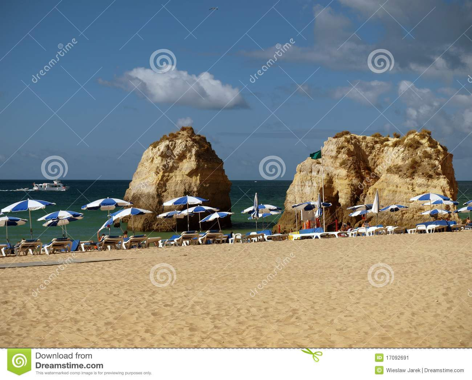 Strand von Praia DA Rocha in Portimao