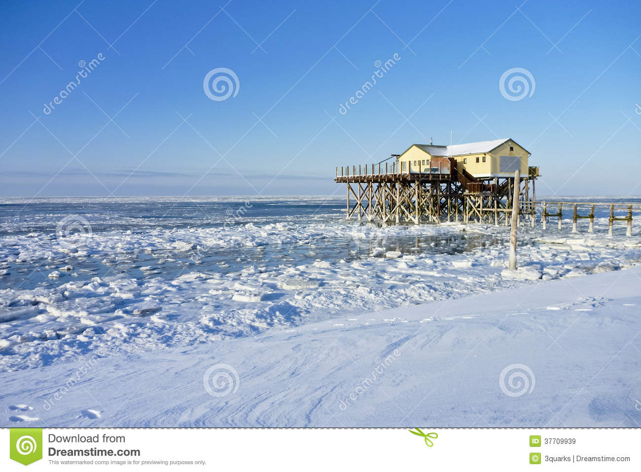 strand von st peter ording im winter stockbild bild von. Black Bedroom Furniture Sets. Home Design Ideas