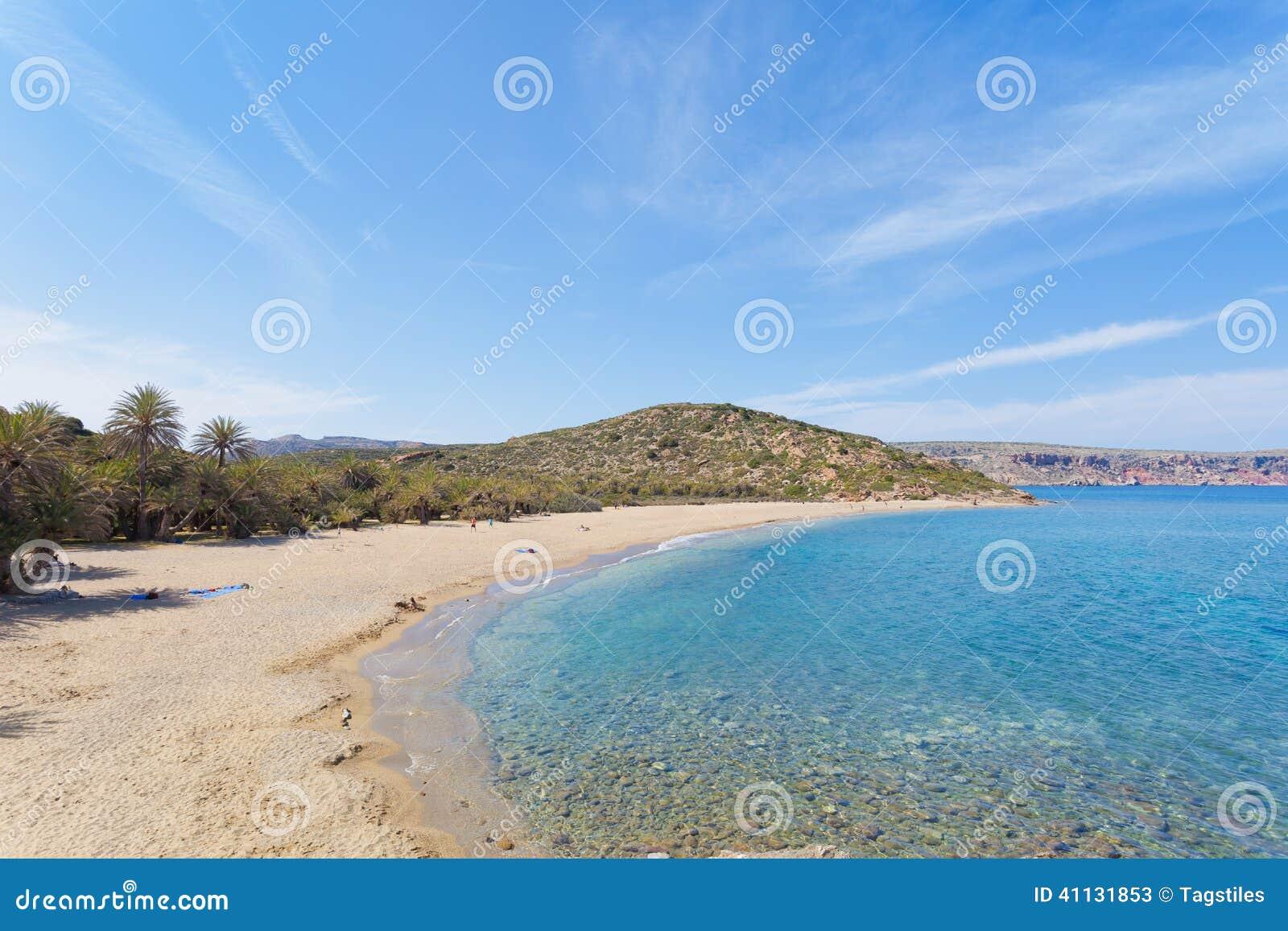 Download Strand von Vai stockbild. Bild von griechenland, blumen - 41131853