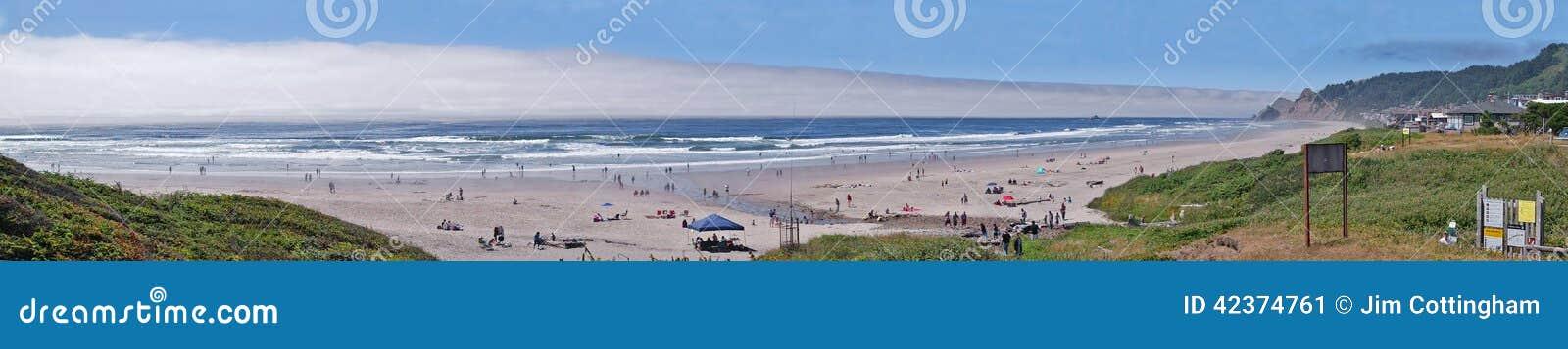 Strandactiviteit - Panorama