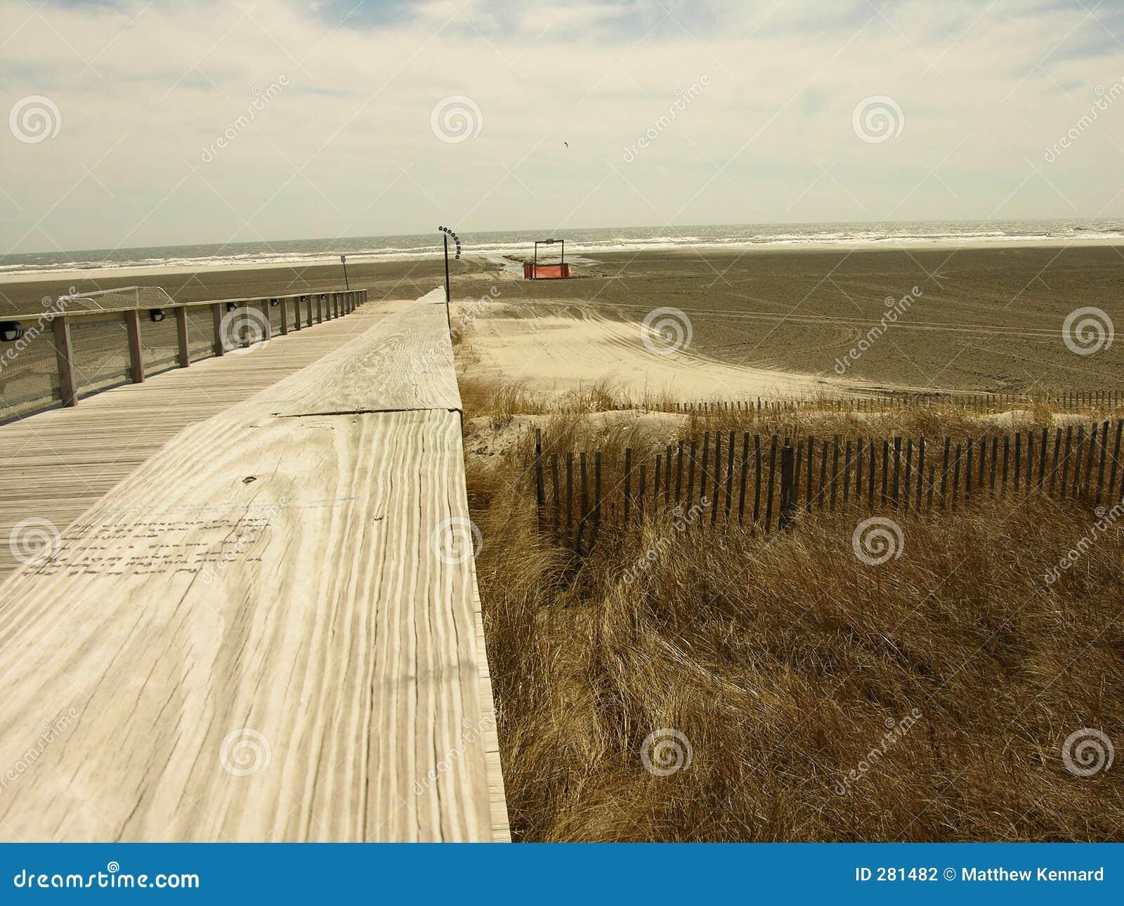 Stranddyner över till walkwayen