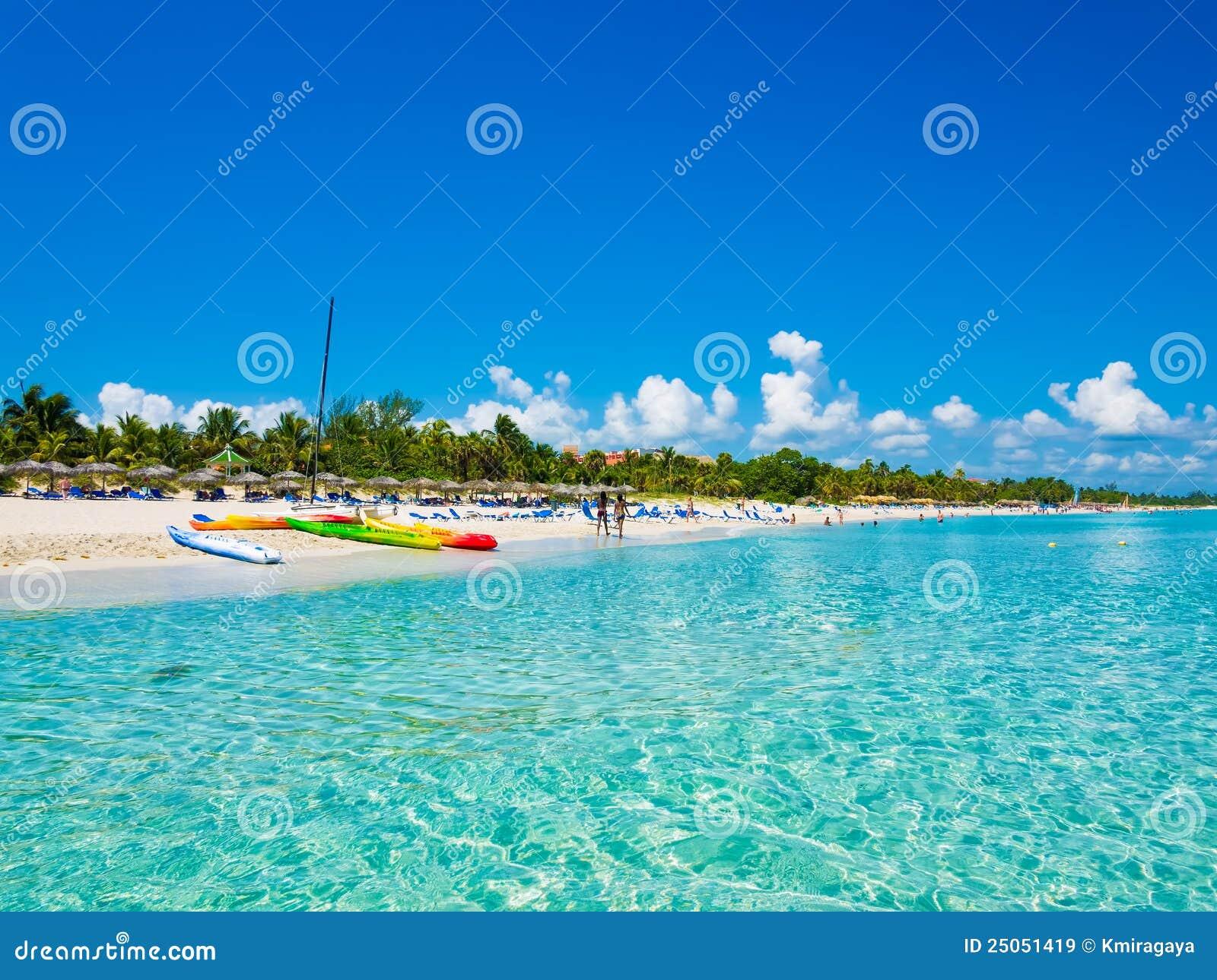 Stranden cuba fotograferade havet varadero