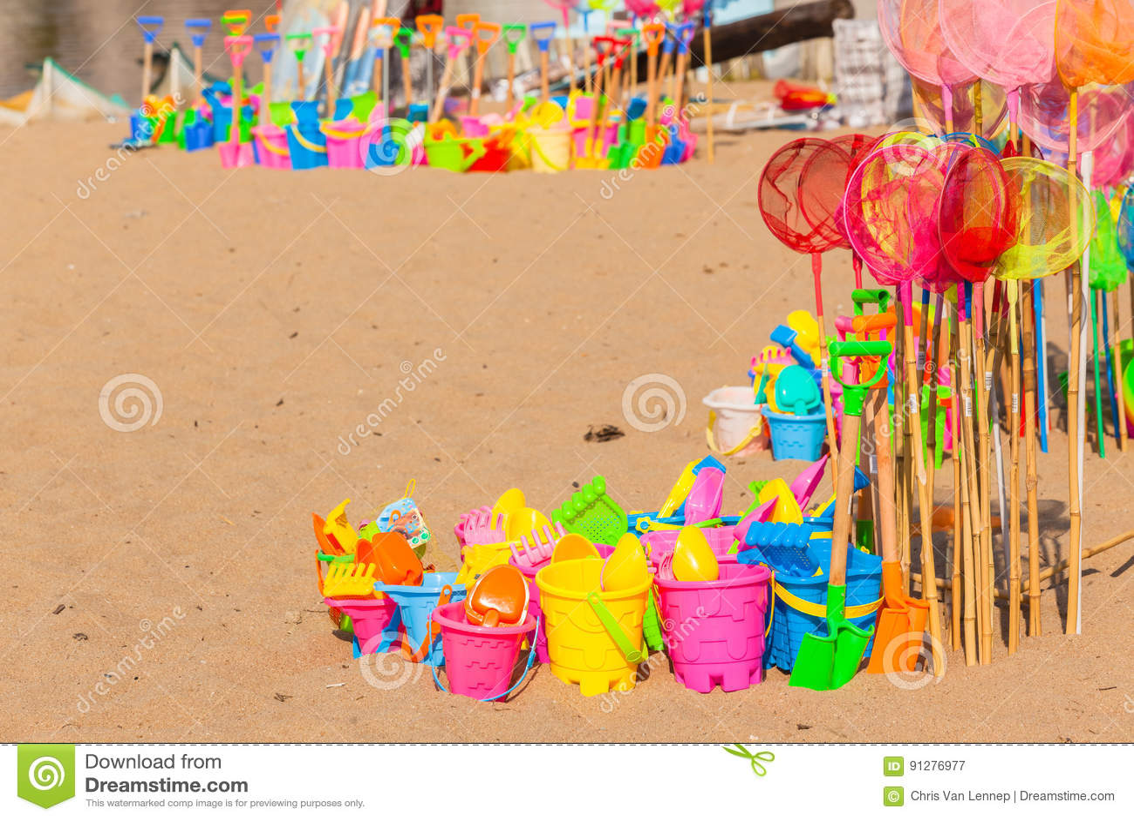 Stranden semestrar plast- leksaker