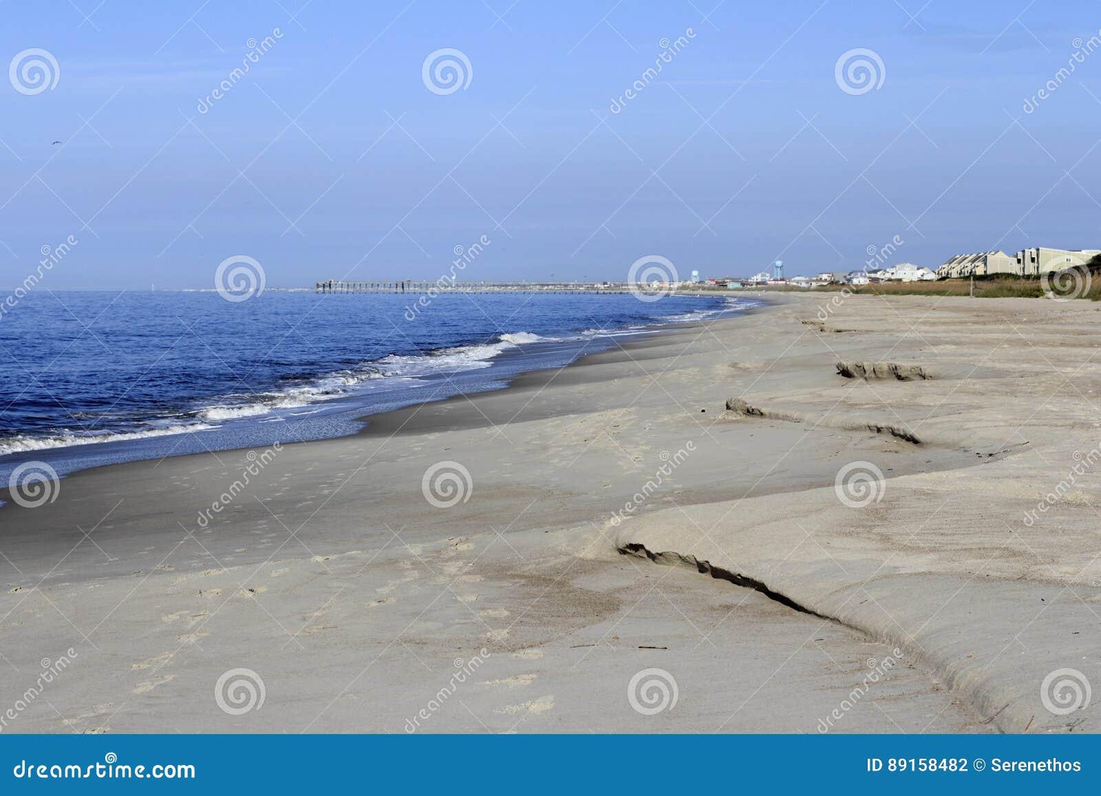 Stranderosion efter en storm