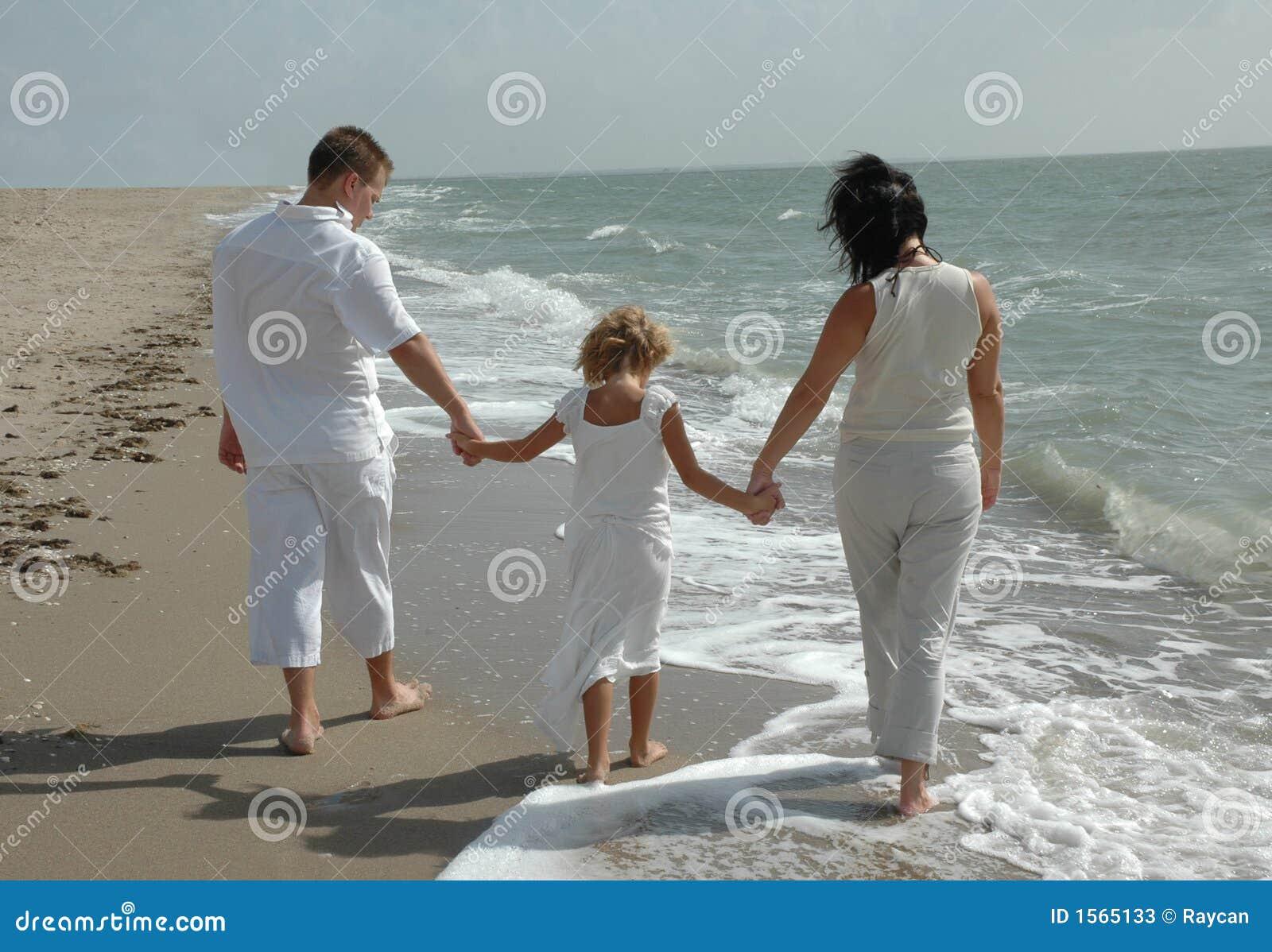 Strandfamiljbarn