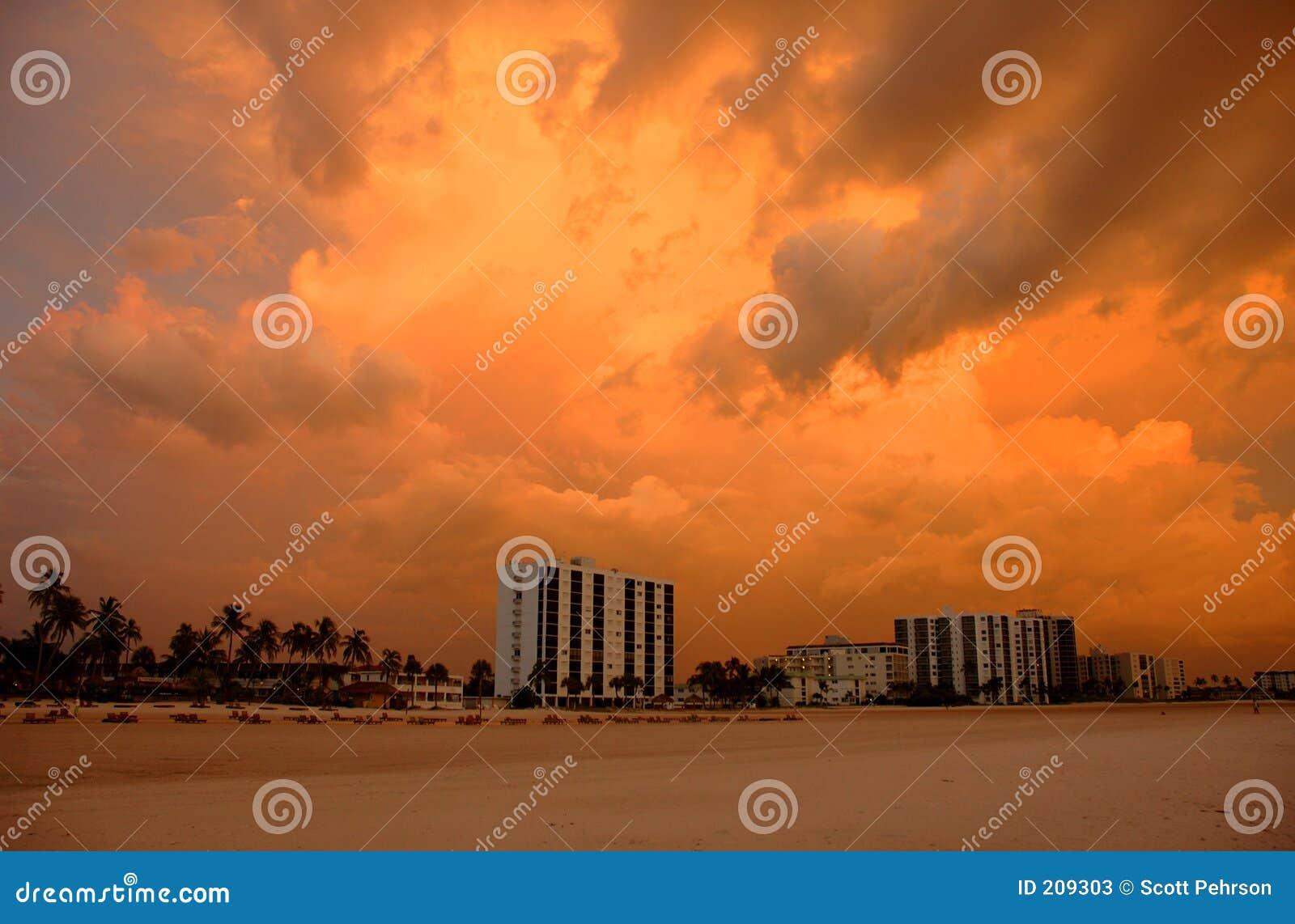 StrandFort Myers solnedgång