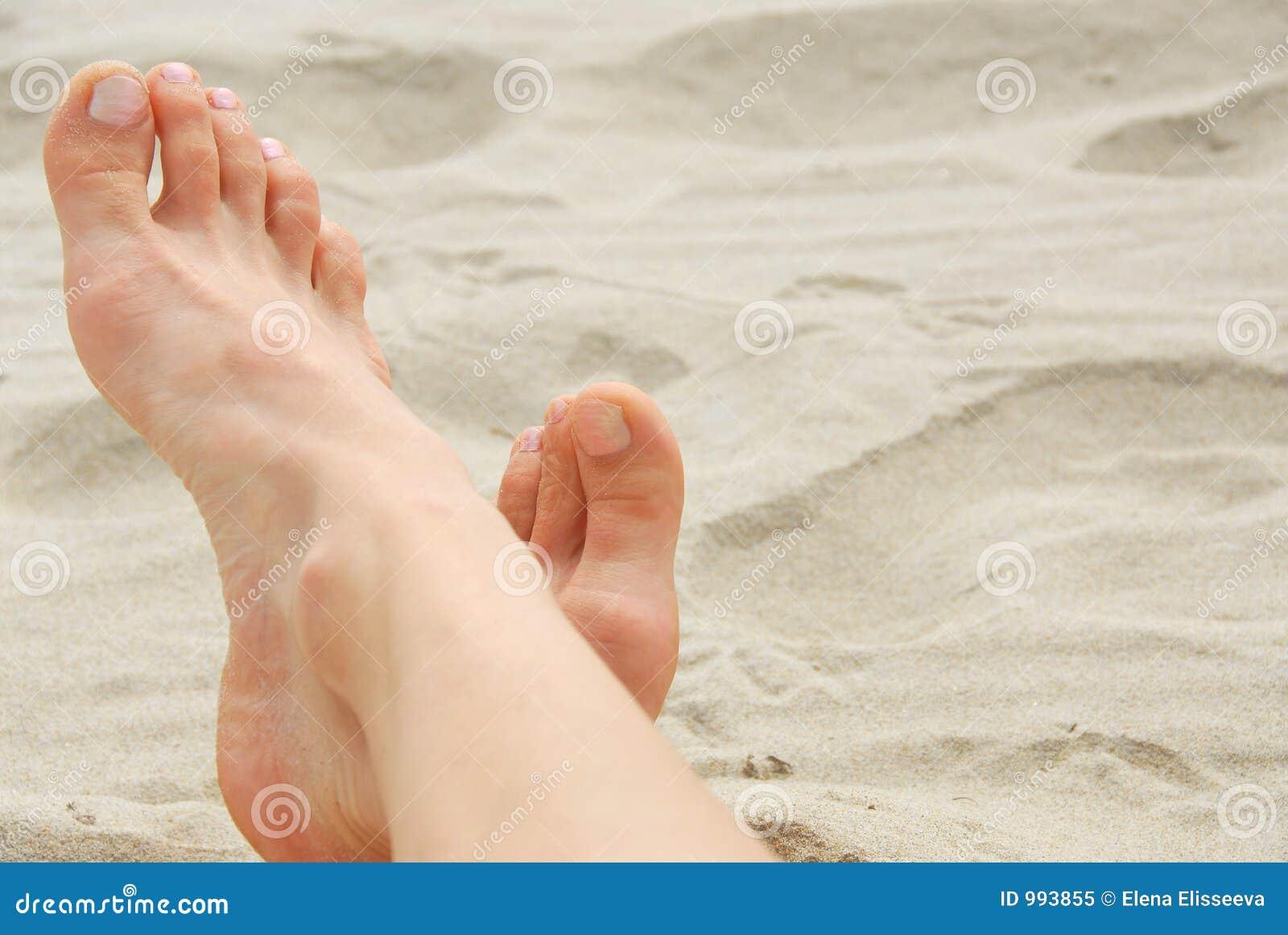 Strandfotkvinna
