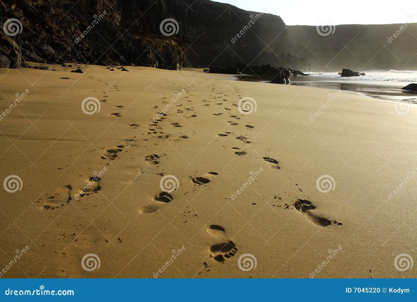 Strandfotspår