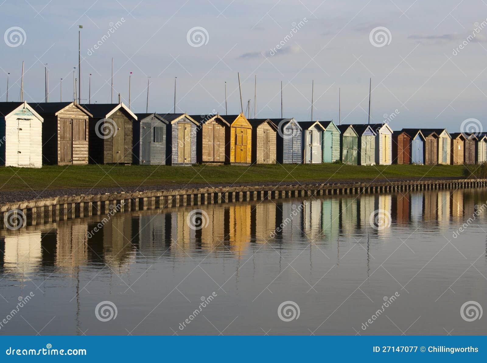 Strandkojor, Brightlingsea, Essex, England