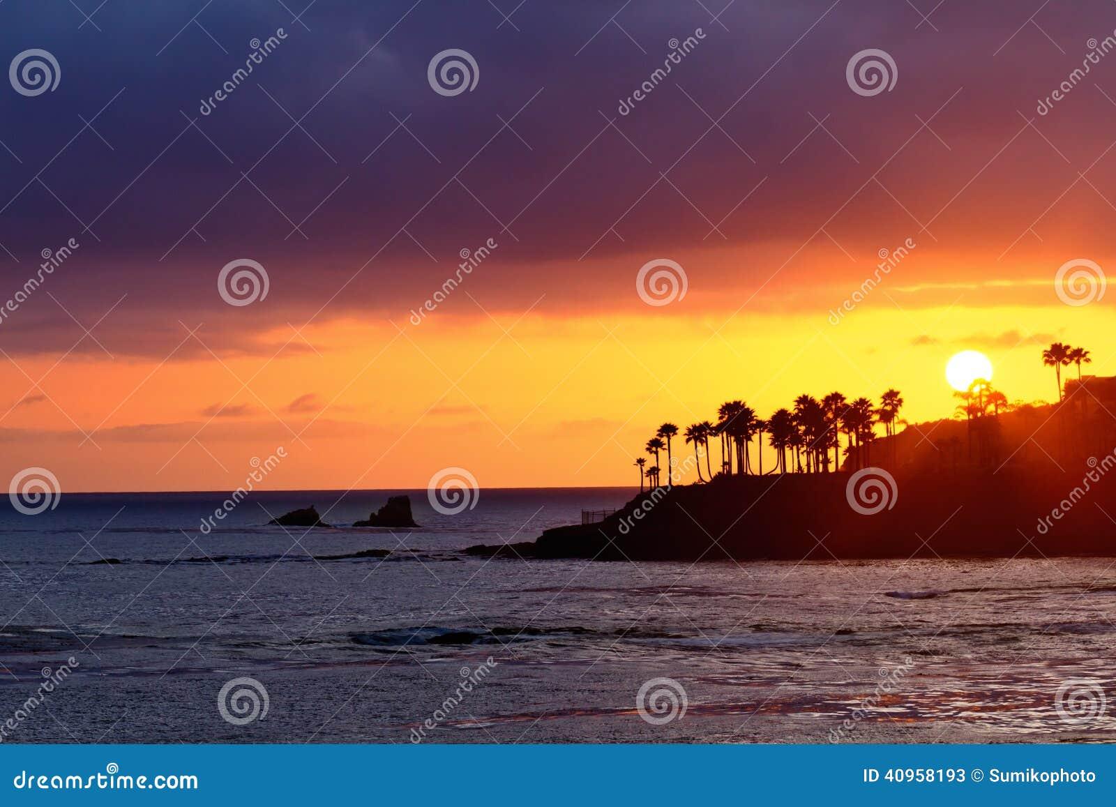 Strandlaguna solnedgång